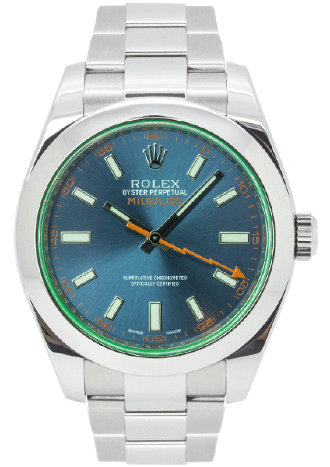 Rolex Oyster Perpetual Milgauss Z-Blue Dial 116400GV