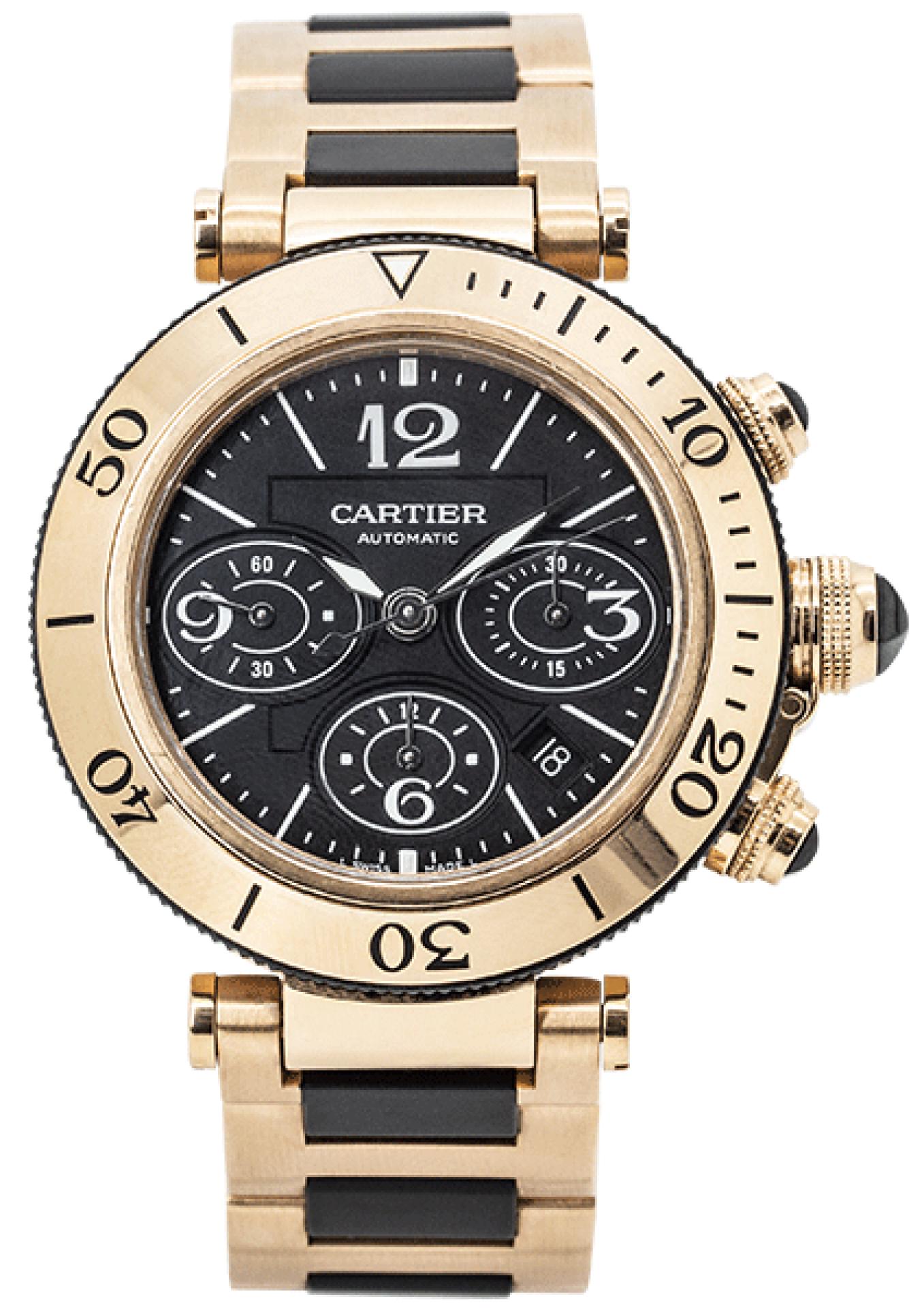 Cartier Pasha Seatimer Rose Gold 3066 W301980M.
