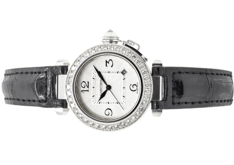 Cartier Pasha 18ct White Gold Ladies Watch WJ111651 2528