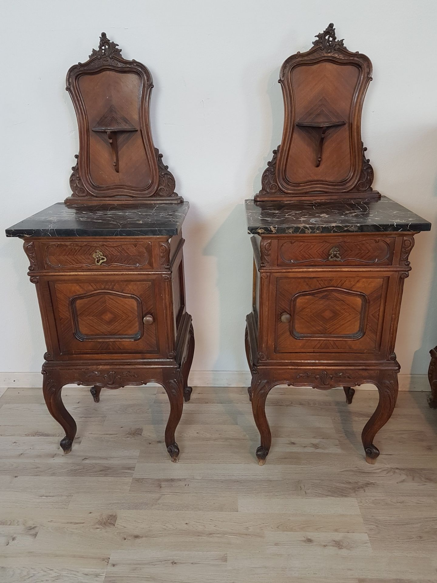 19th Century Italian Louis XV Rococò Style Wood Carved Luxury Bedroom Set
