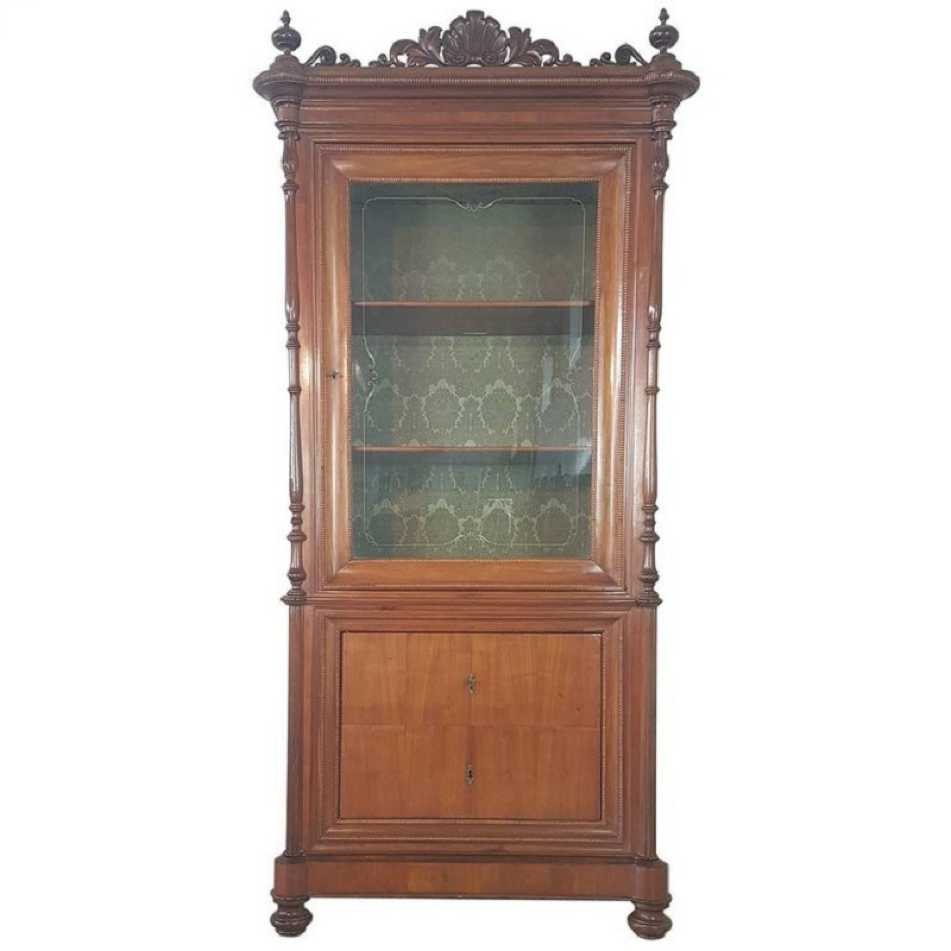 19th Century Italian Charles X Cherry Wood Cabinet