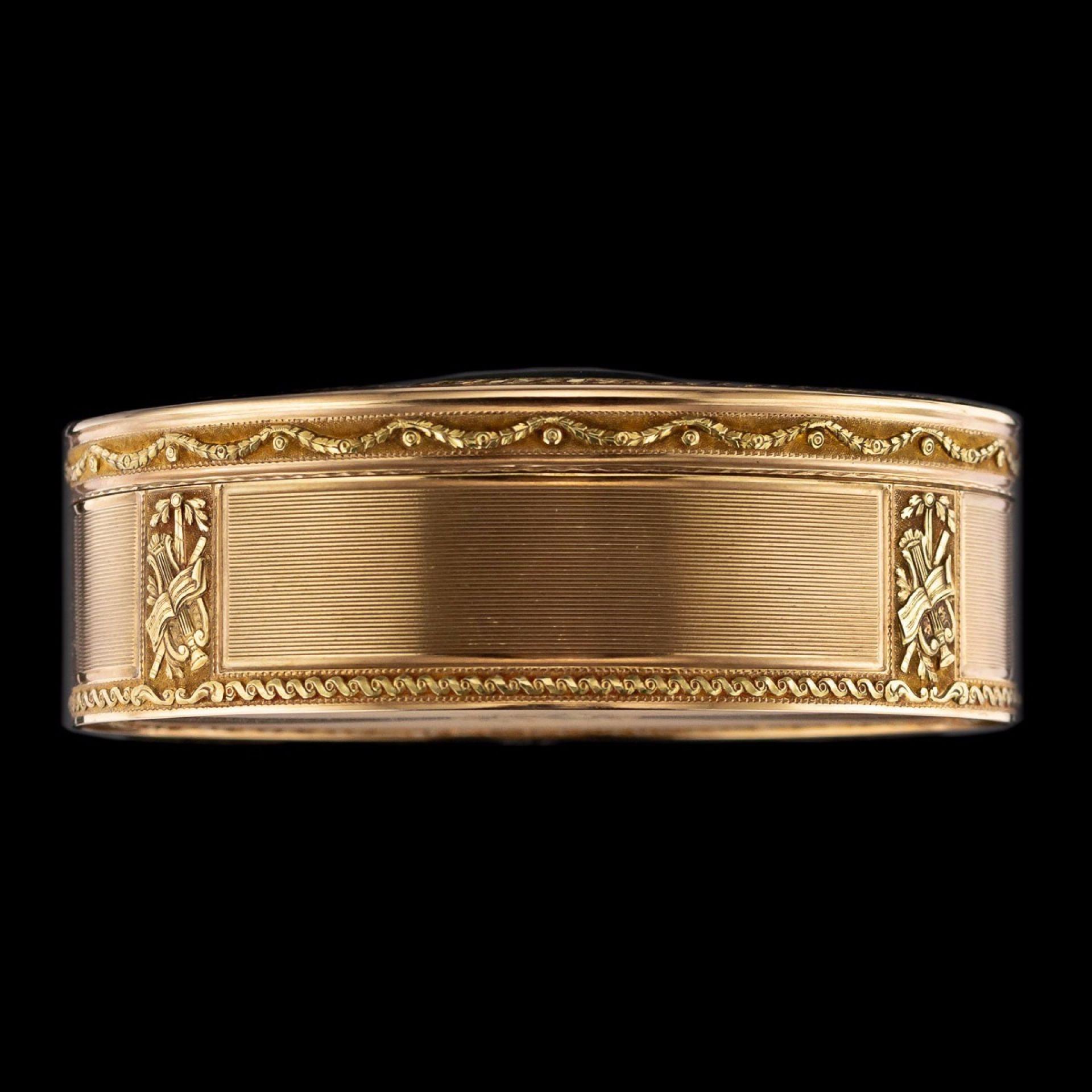 ANTIQUE 18thC GERMAN 18k GOLD SNUFF BOX, ESAIS FERNAU, HANAU c.1790