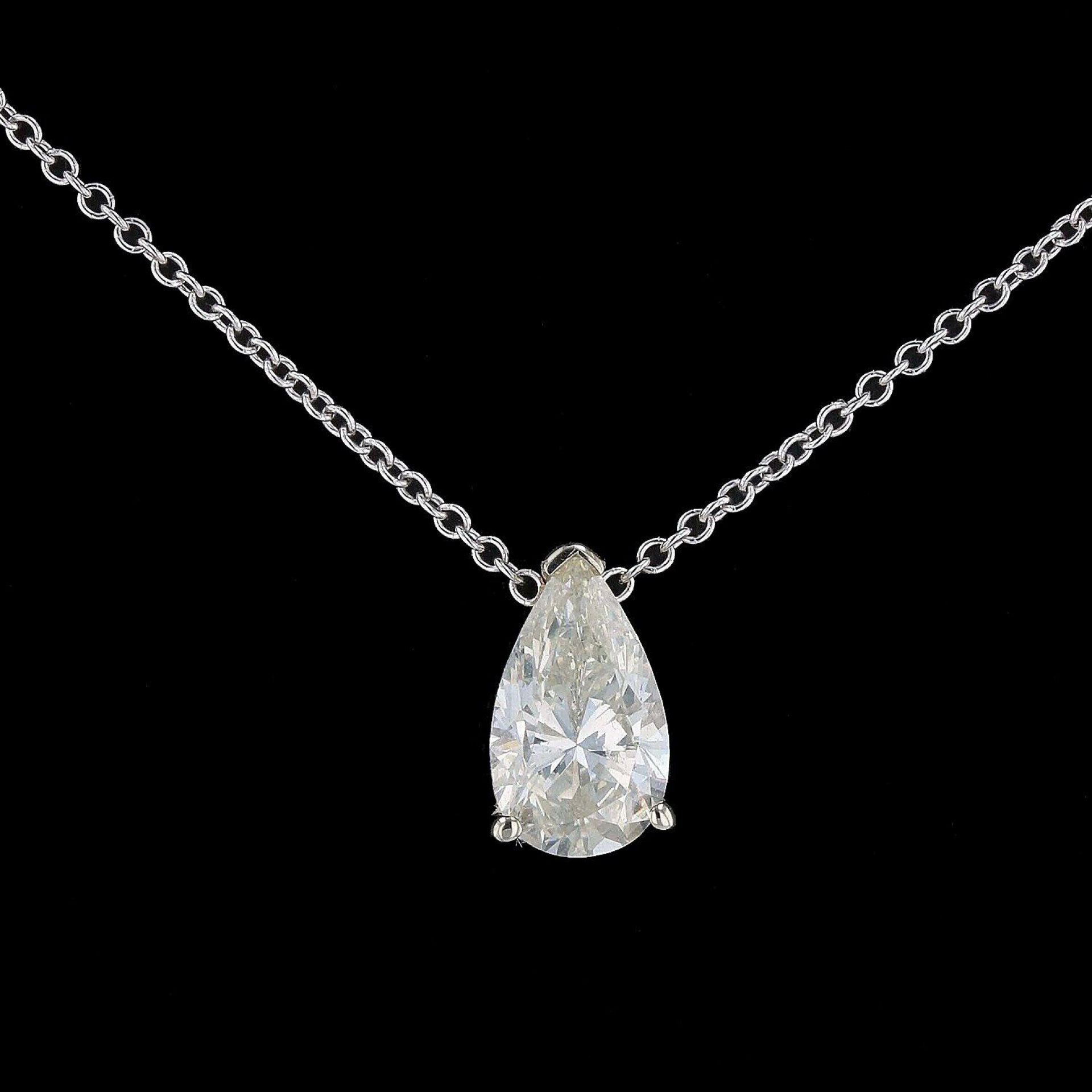 1.03ct VS2 CLARITY Pear Shaped Diamond Solitaire Pendant (EGL CERTIFIED)