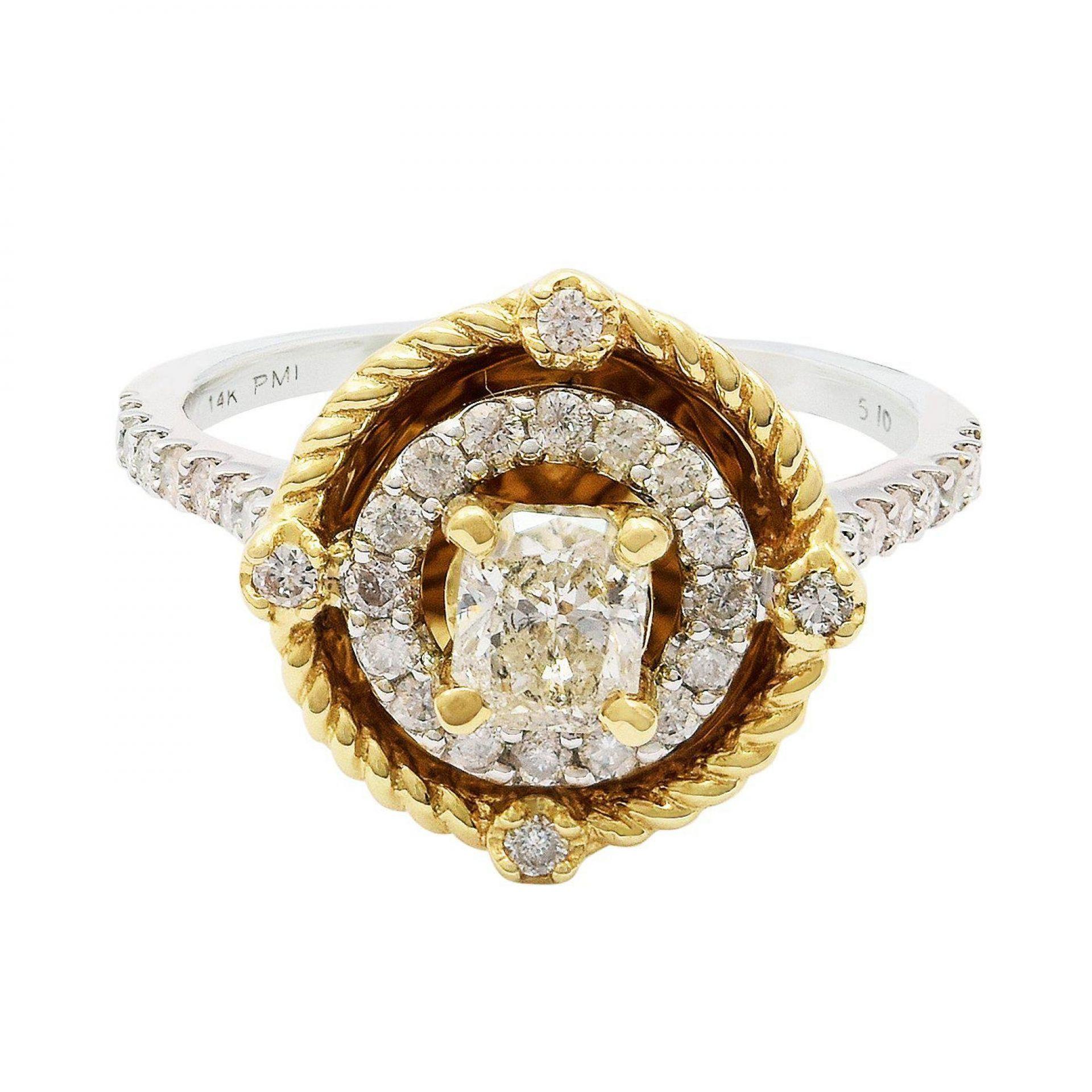 0.51ct CENTER Diamond Unity Ring (0.91ctw Diamonds)