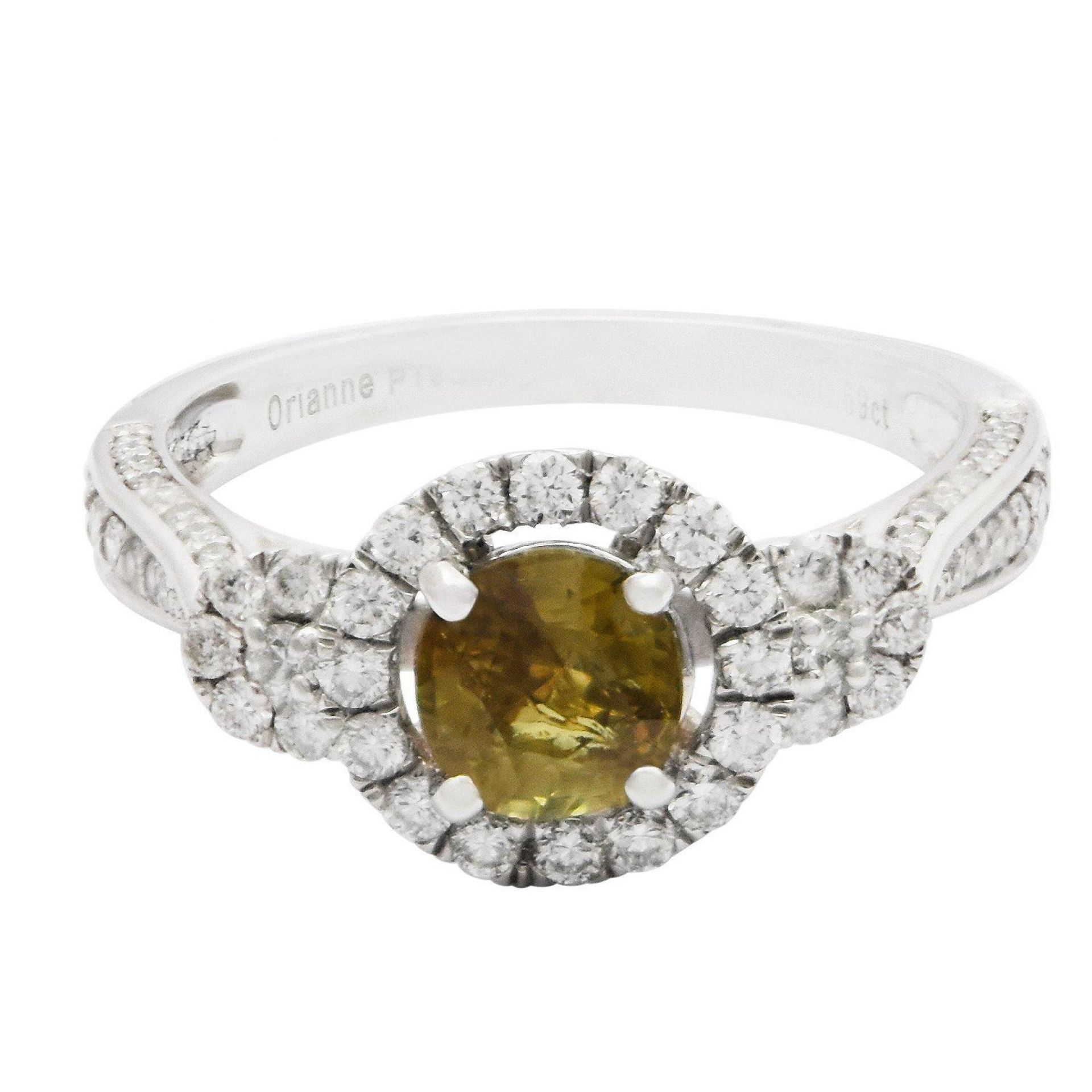 1.08ct Alexandrite and 0.69ctw Diamond Ring (GIA CERTIFIED)