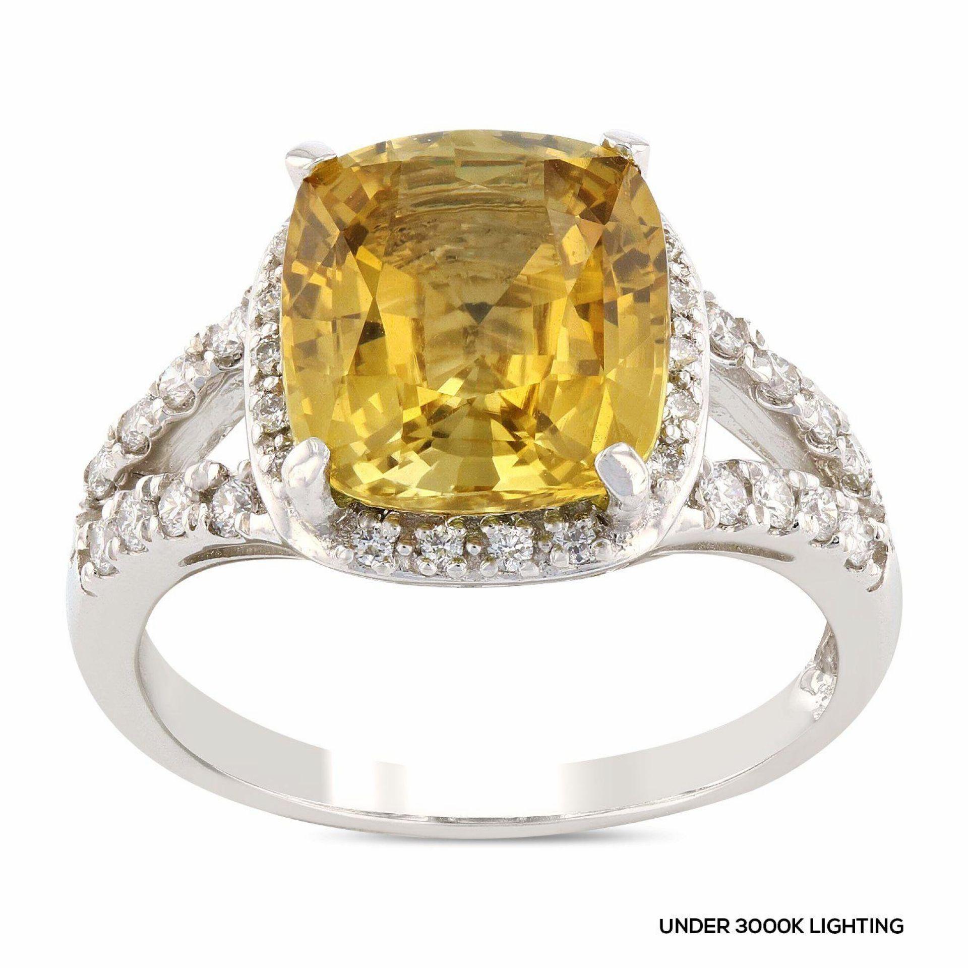 4.72ct Alexandrite and 0.32ctw Diamond Platinum Ring (GIA CERTIFIED)