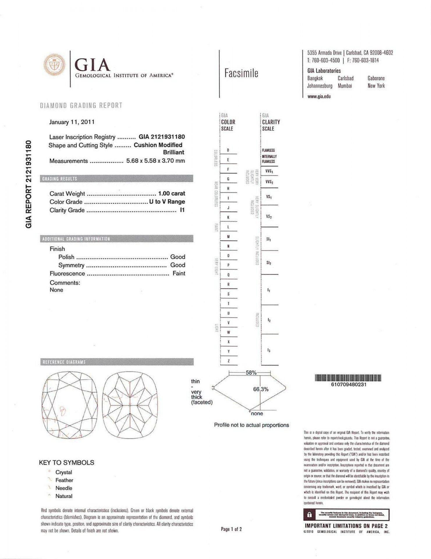 1.00ct CENTER Diamond Unity Ring (1.27ctw Diamonds) GIA CERTIFIED