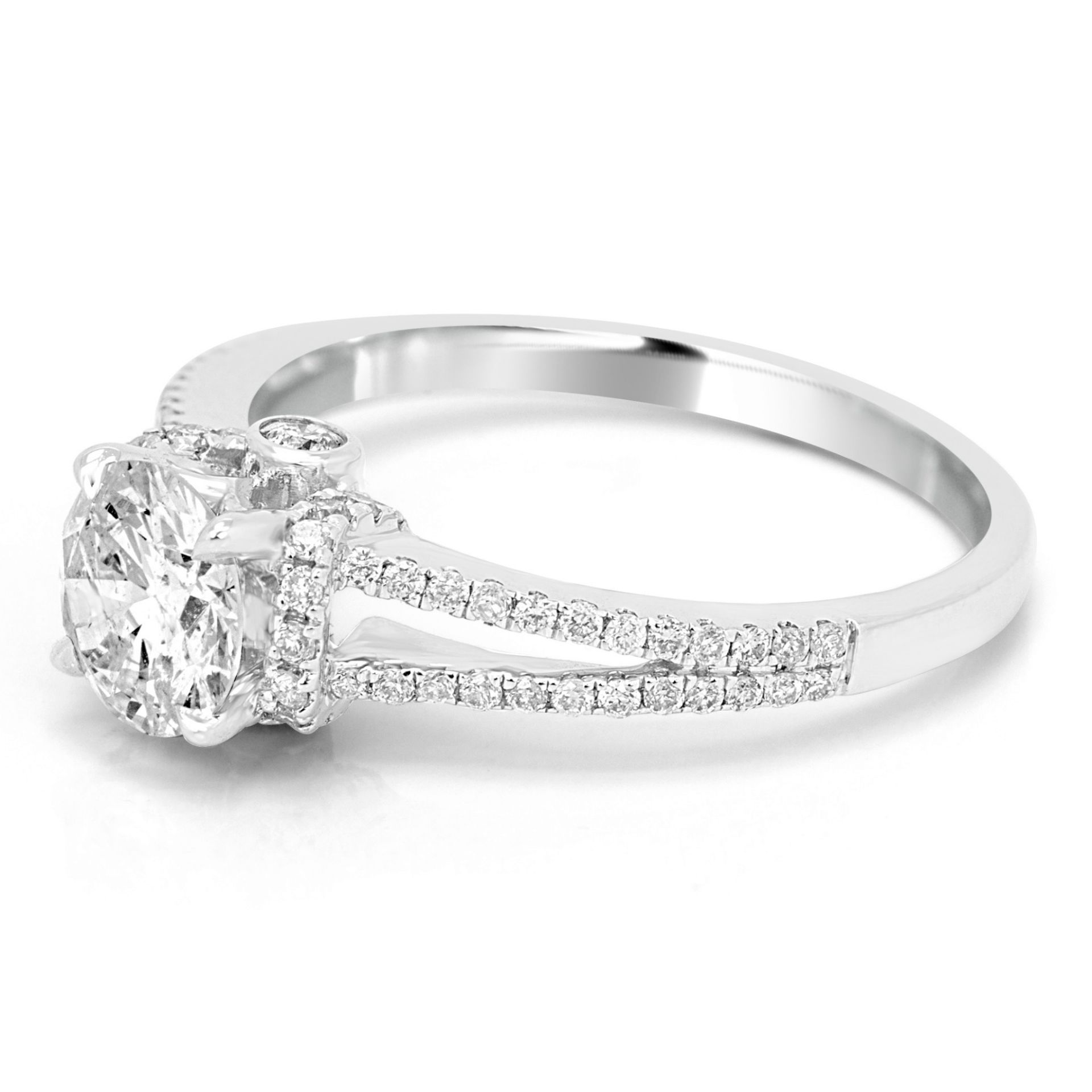 Diamond Round 0.92 Carat Gold Bridal Engagement Ring