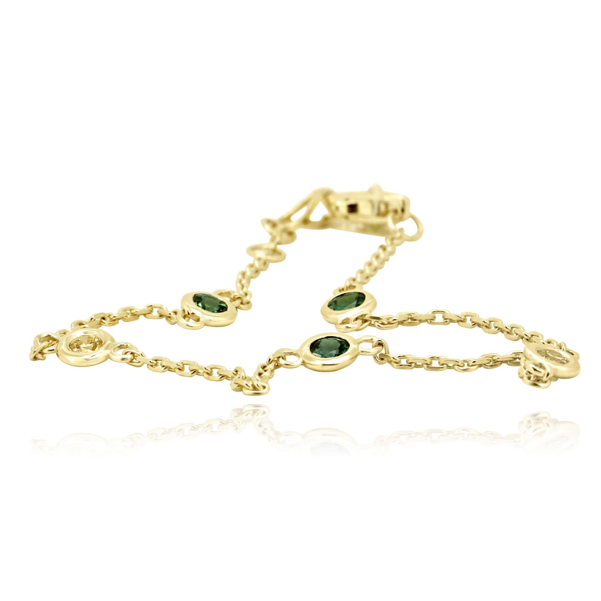 Alexandrite Fancy Yellow Diamonds Diamond By yard Chain Gold Bracelet Anklets