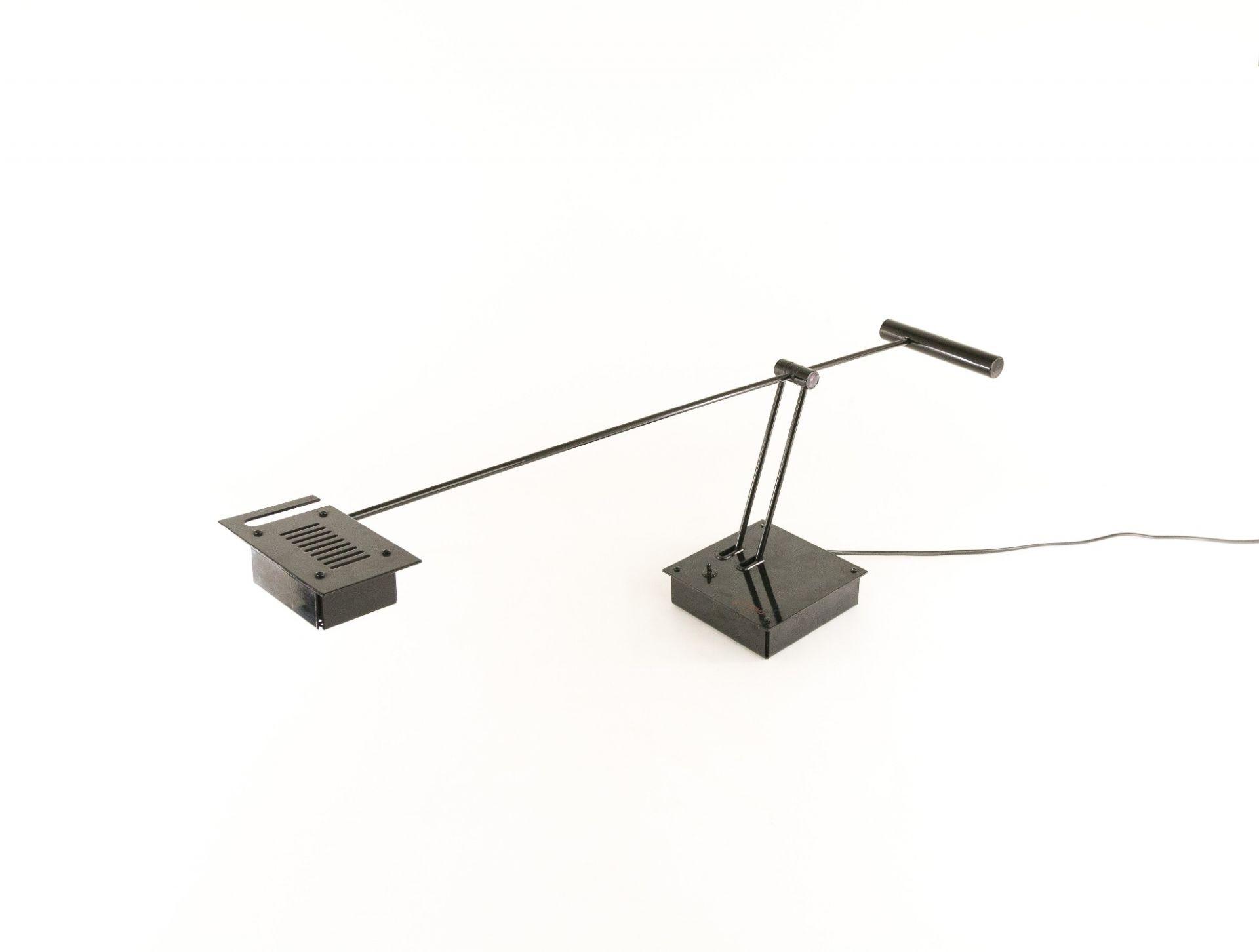Sigheaki Asahara table lamp Samurai for Stilnovo in black, 1970s