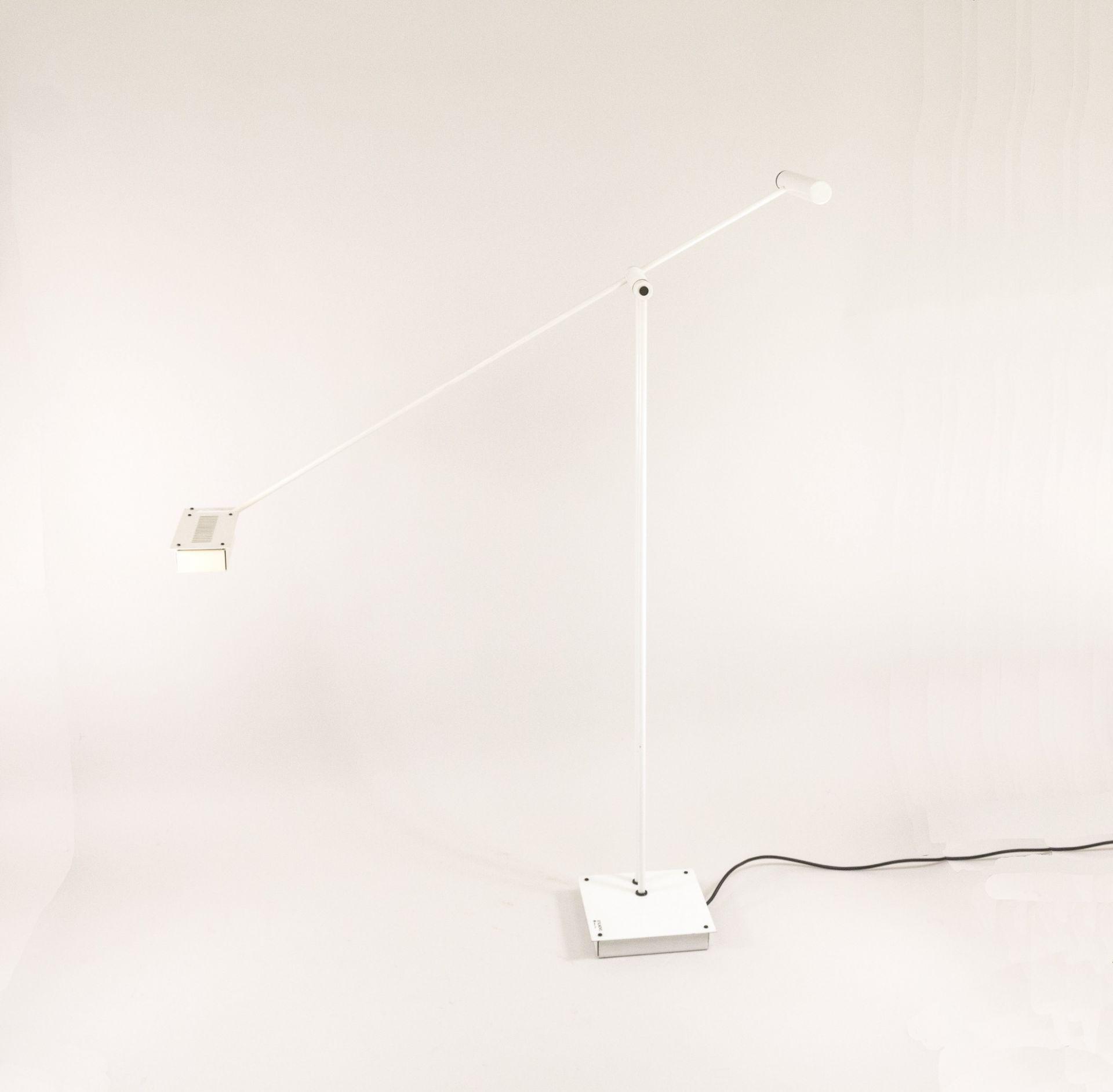 White Samurai Floor Lamp by Shigeaki Asahara for Stilnovo, 1970s