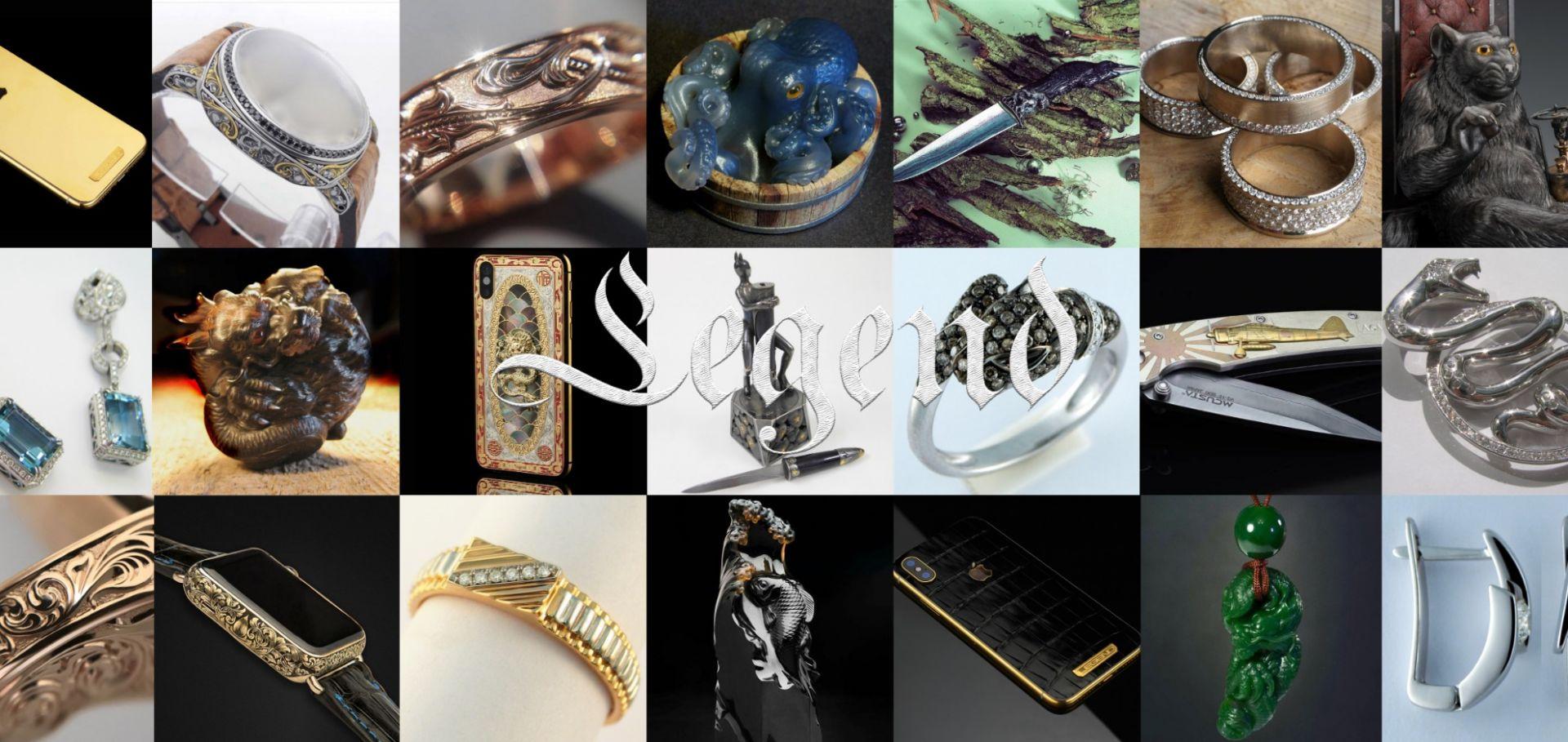 Legend Gemstone Sculpture - Koi Carp - Gem Carving Carved in Faberge Spirit
