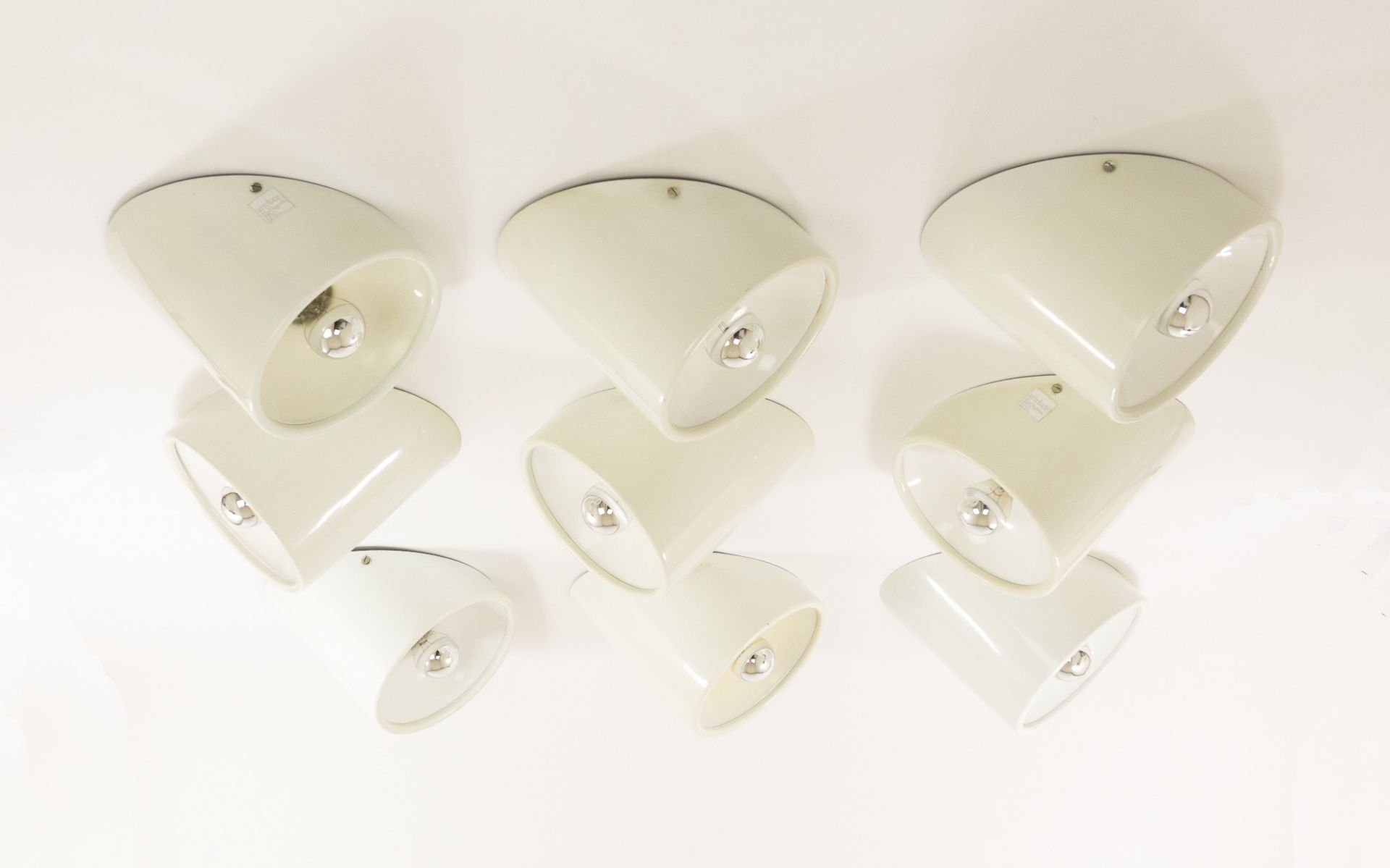 Set of wall or ceiling fixtures, No. 235/b, by Cini Boeri for Arteluce, 1970s