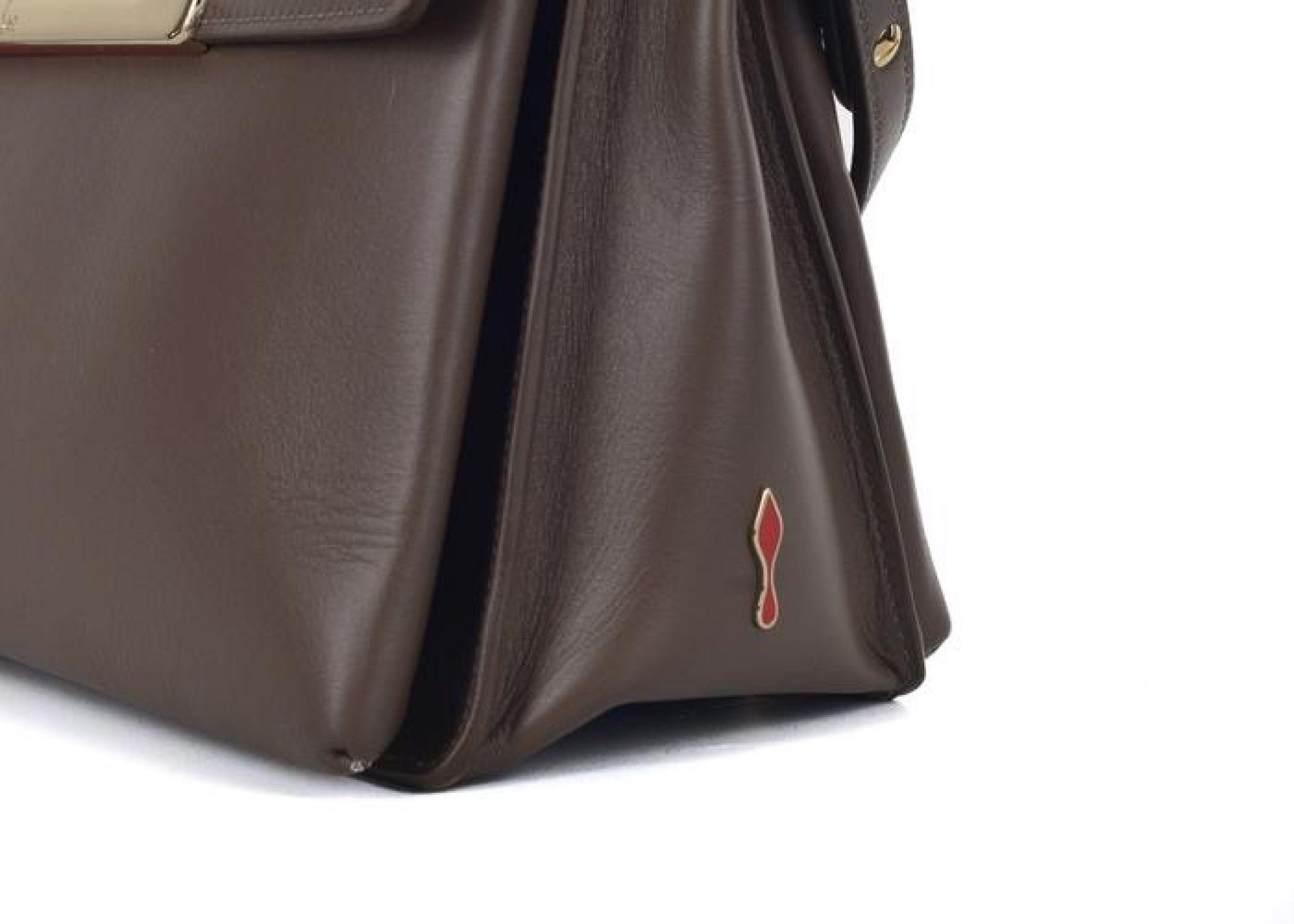 CHRISTIAN LOUBOUTIN WOMENS PASSAGE OMBRE MULTICOLRED MESSENGER BAG