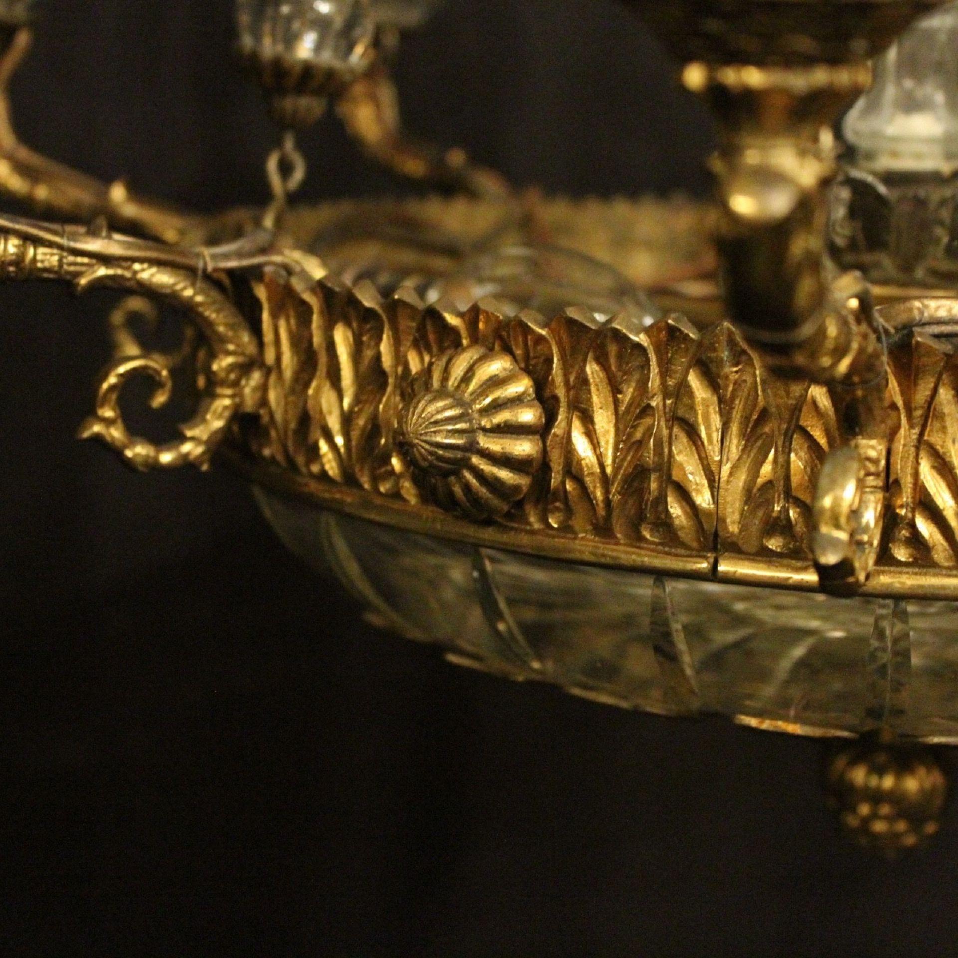 French Gilded Bronze 10 Light Chandelier