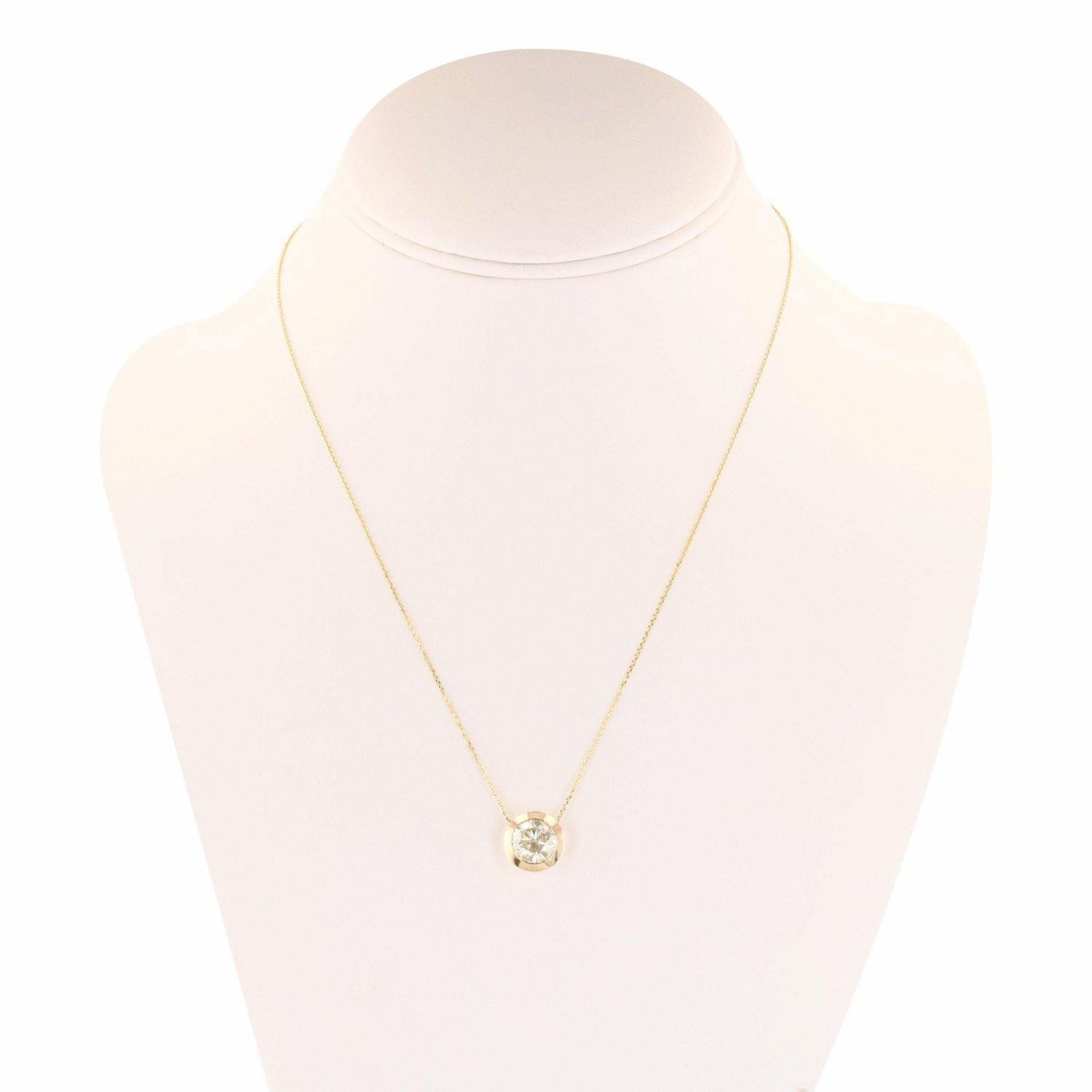 2.55ct Diamond Solitaire 14K Yellow Gold Pendant/Necklace