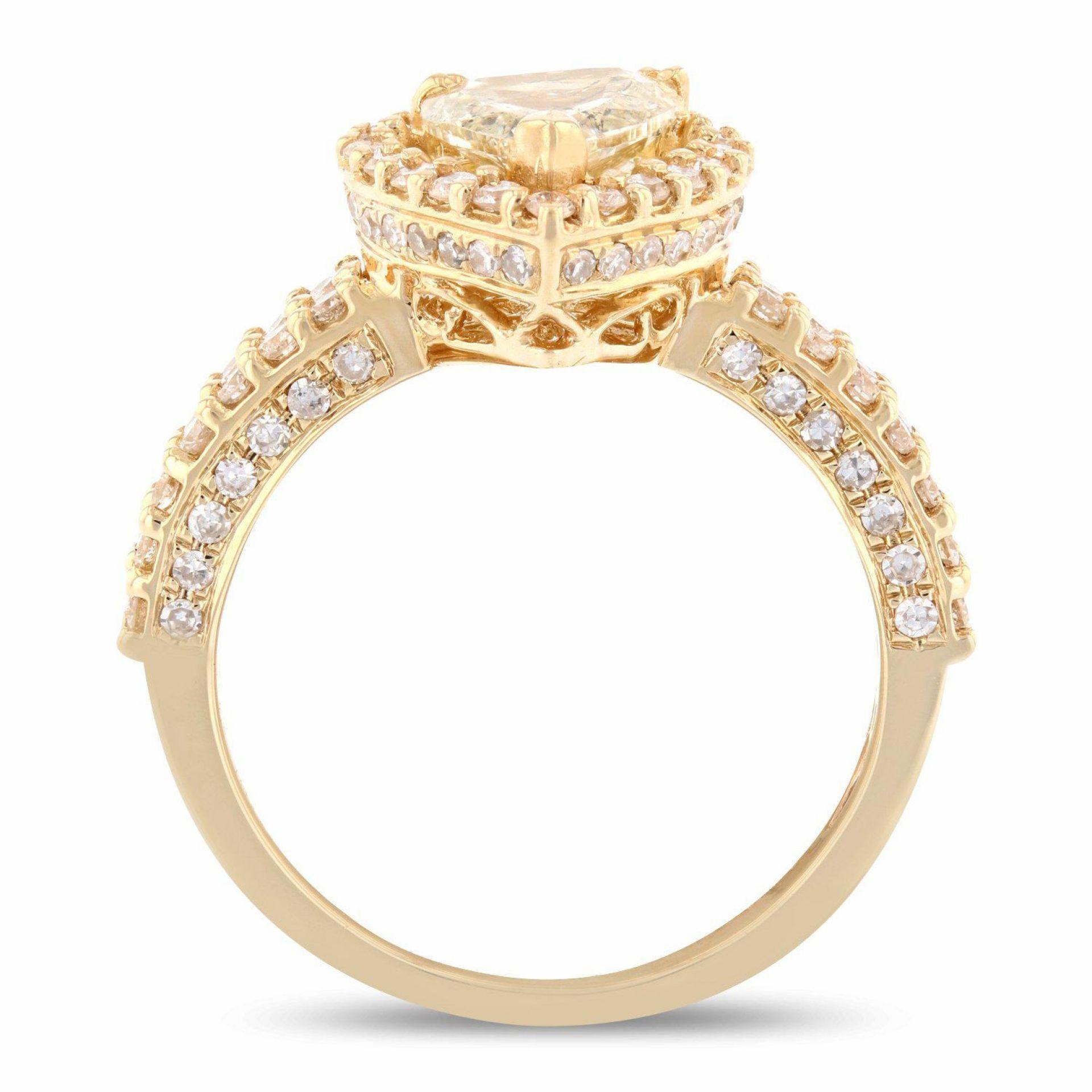2.23ctw Diamond 14K Yellow Gold Ring