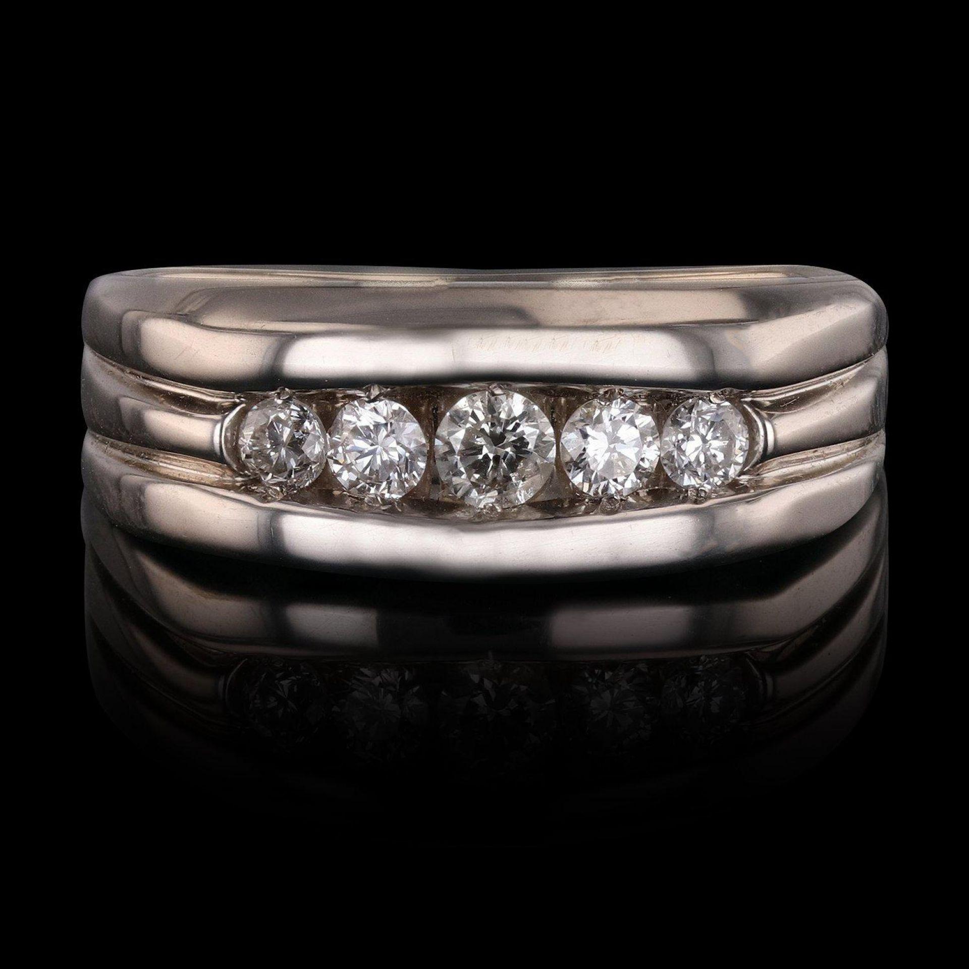 0.70ctw Diamond 14K White Gold Ring