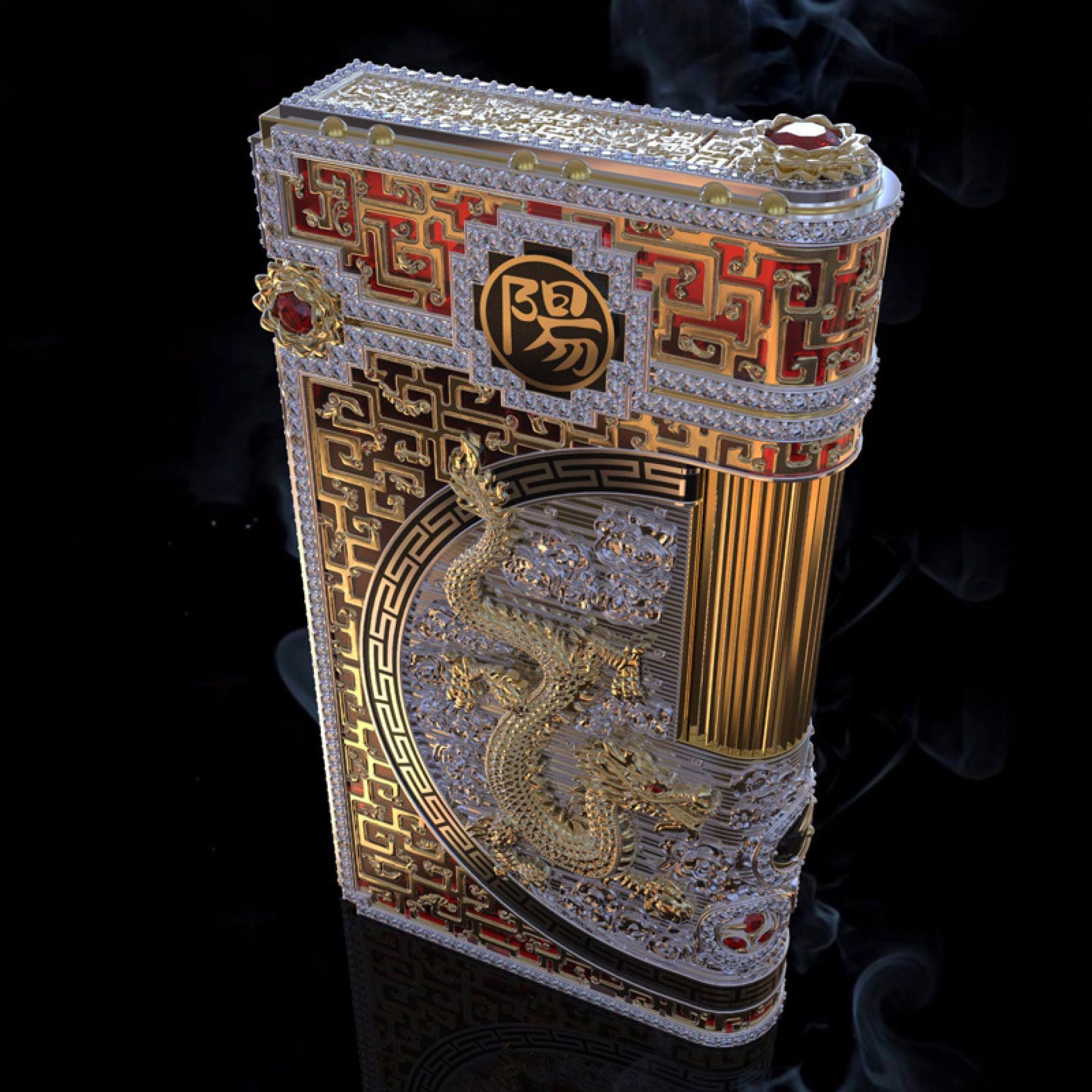 Luxury Dragon Lighter by Legend Helsinki - Custom designs also available
