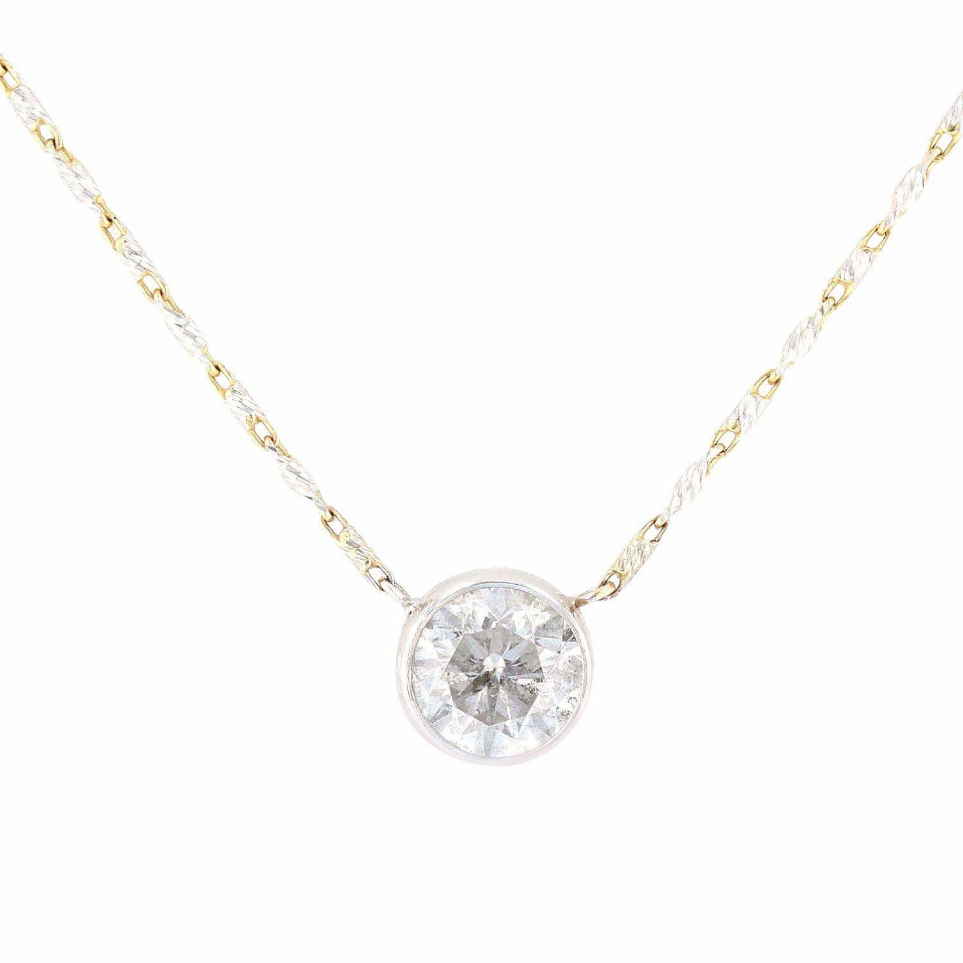 0.98ct Diamond 14K White Gold Necklace/Pendant