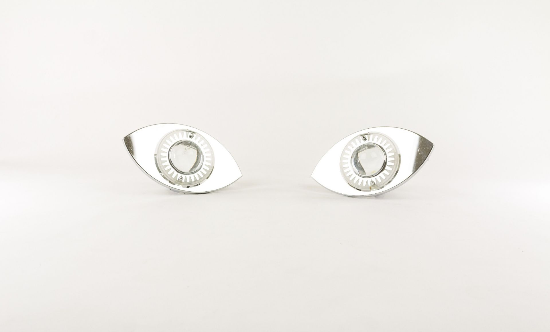 Pair of glass appliques attributed to Oscar Torlasco for Stilkronen, 1960s