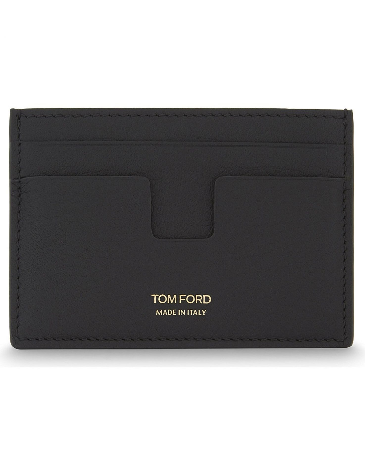 Tom Ford Grained Leather Credit Card Black Wallet Y0232T-C95