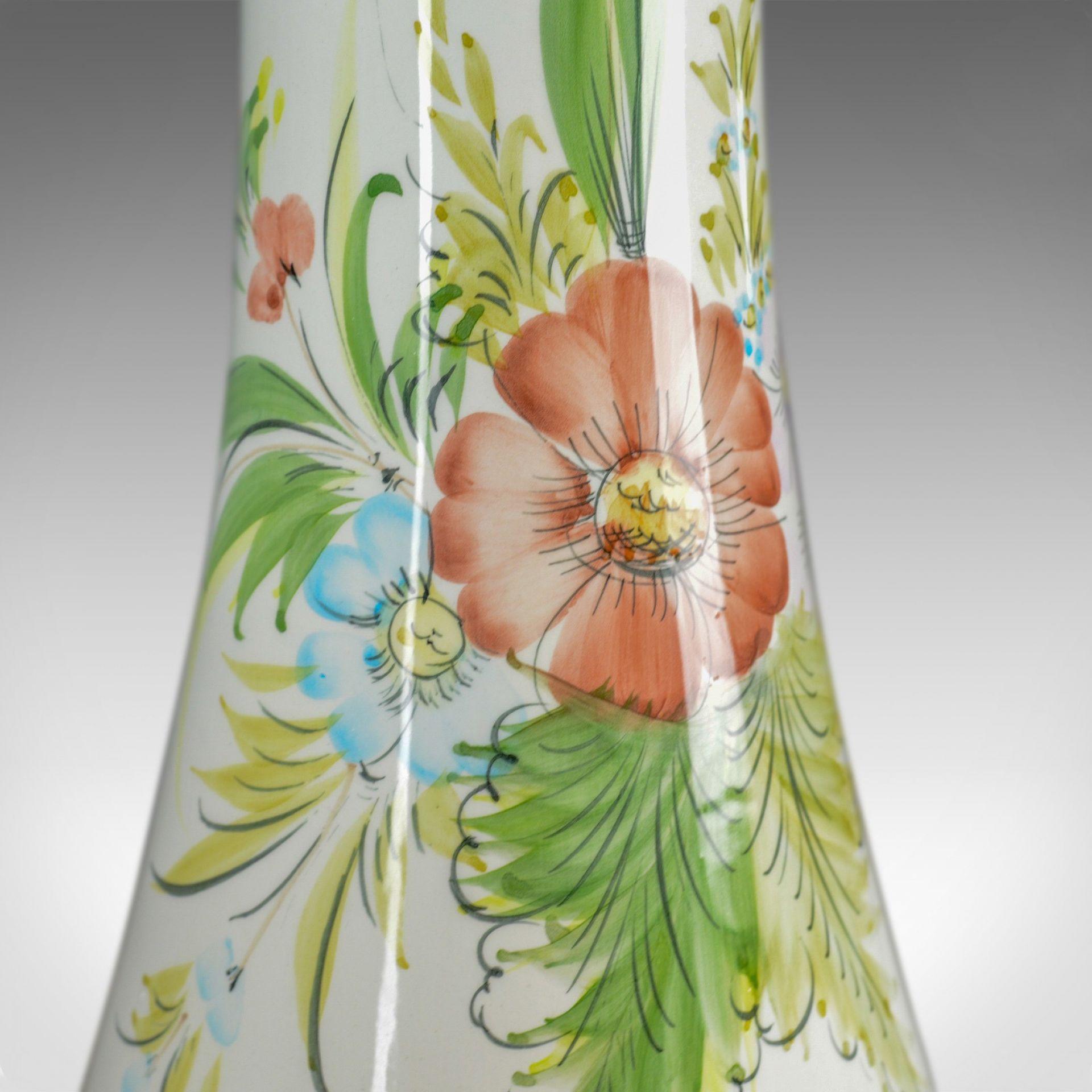 Vintage Ceramic Jardiniere, Floral, Portuguese, Cercapia, Late C20th