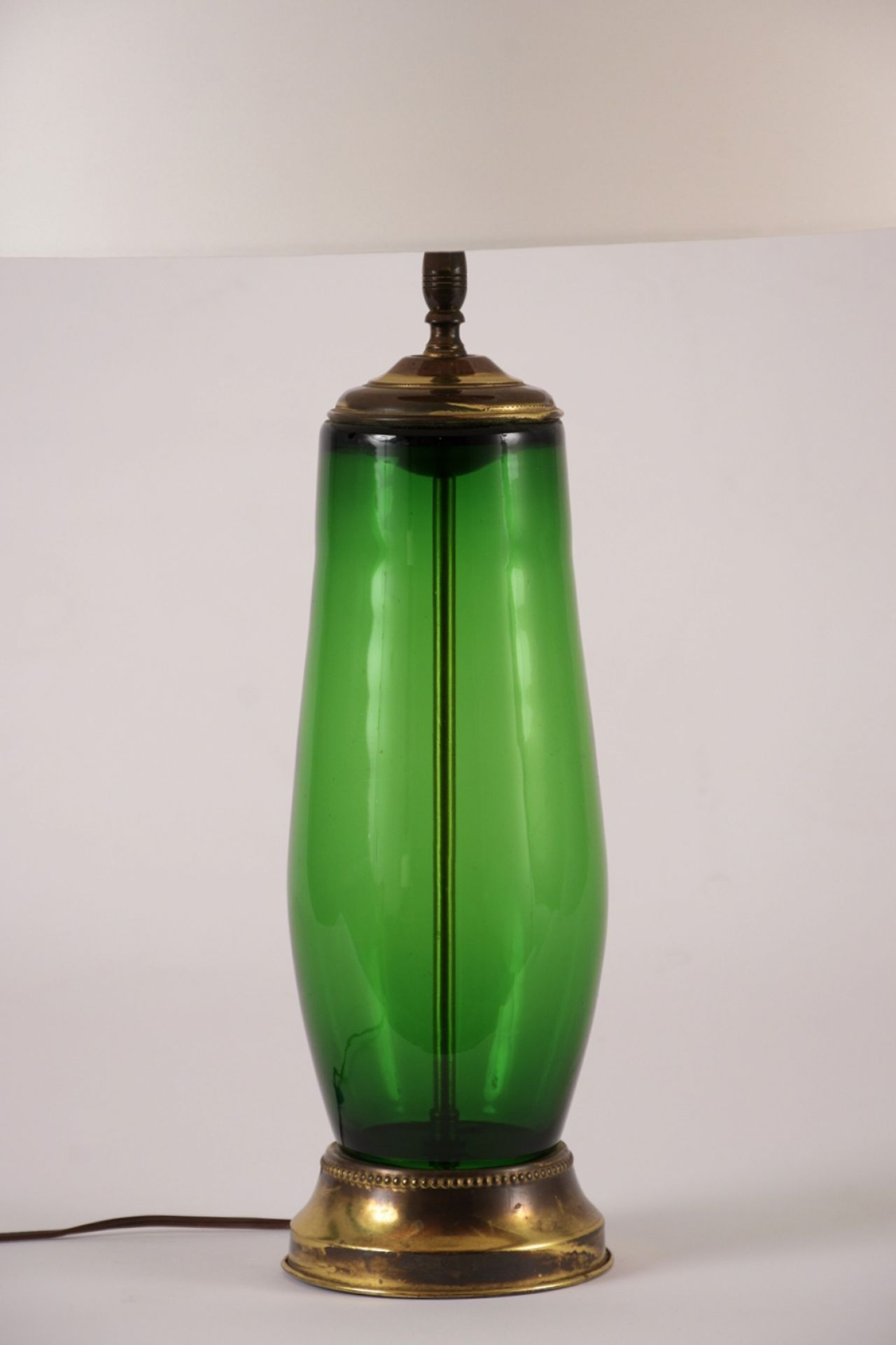 Set of Two Hollywood Regency Style Glass Table Lamps C-8761