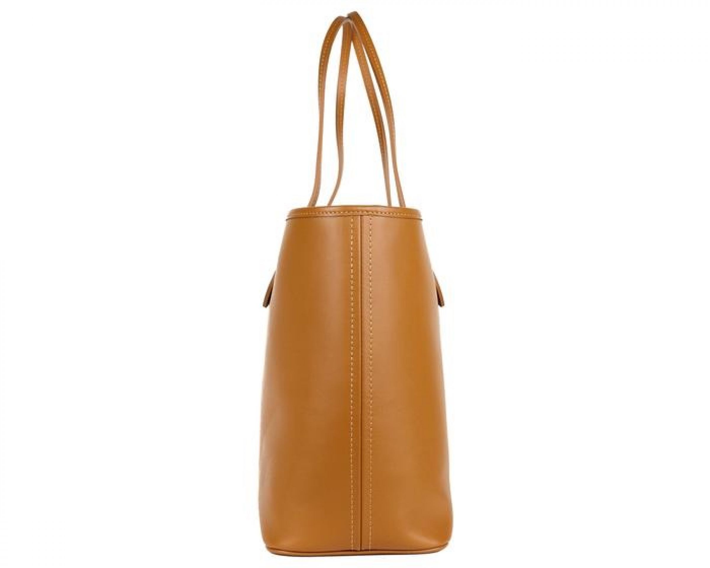 ROBERTO CAVALLI FIRENZE COGNAC BROWN LARGE LEATHER SHOPPING TOTE BAG