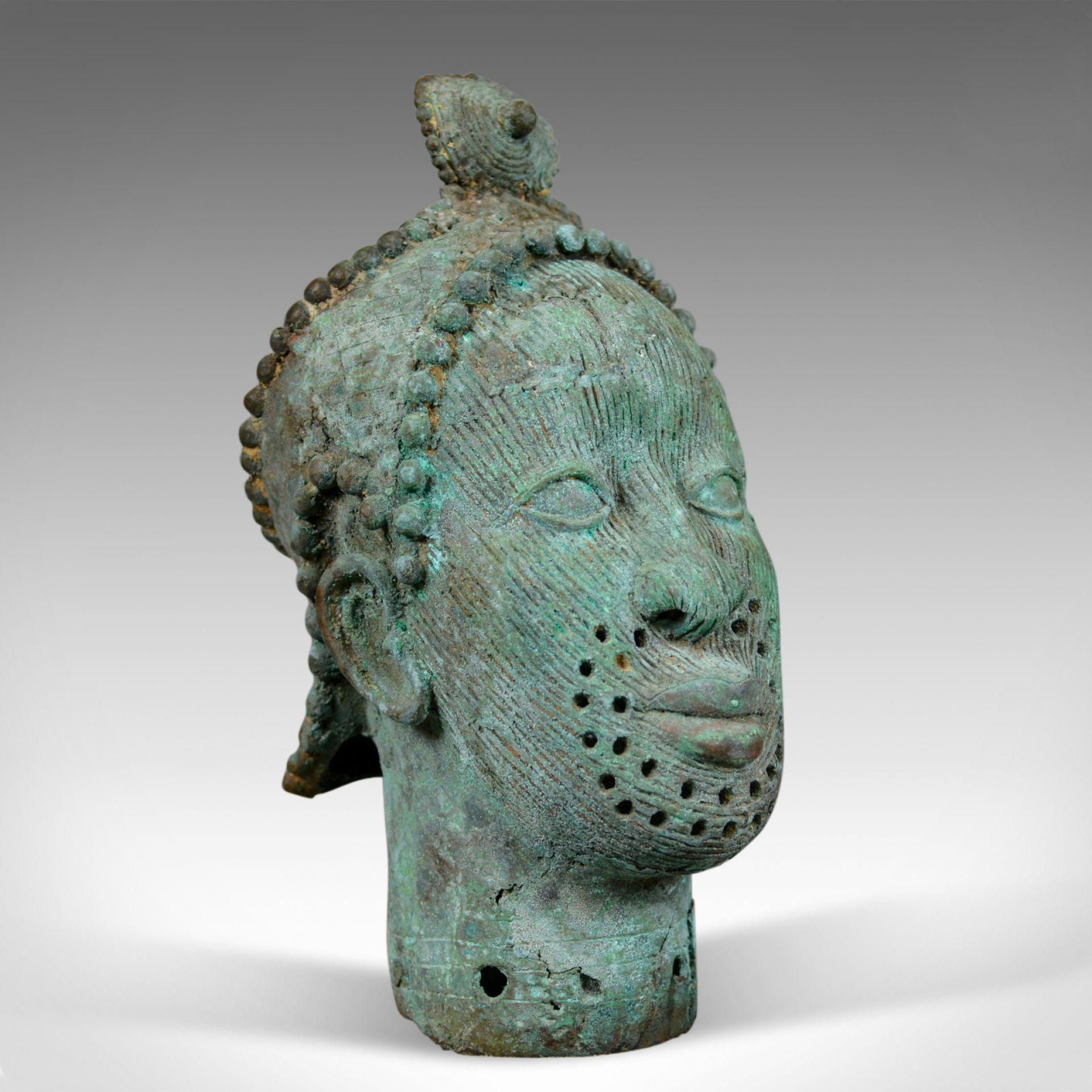 Mid 20th Century African Bronze Bust, Head, Sculpture, Art