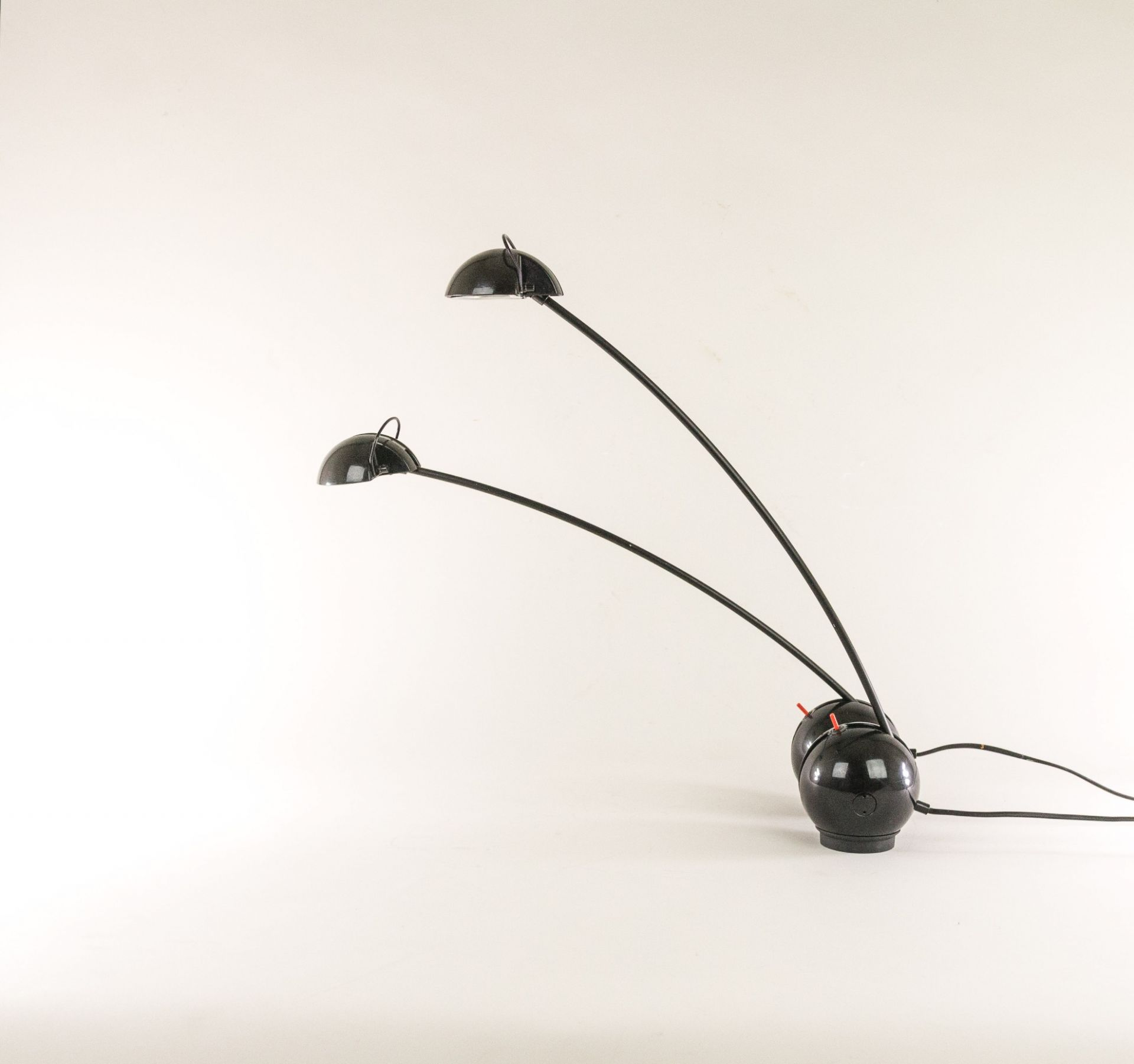 Pair of black Alina table lamps by Valenti, 1970s