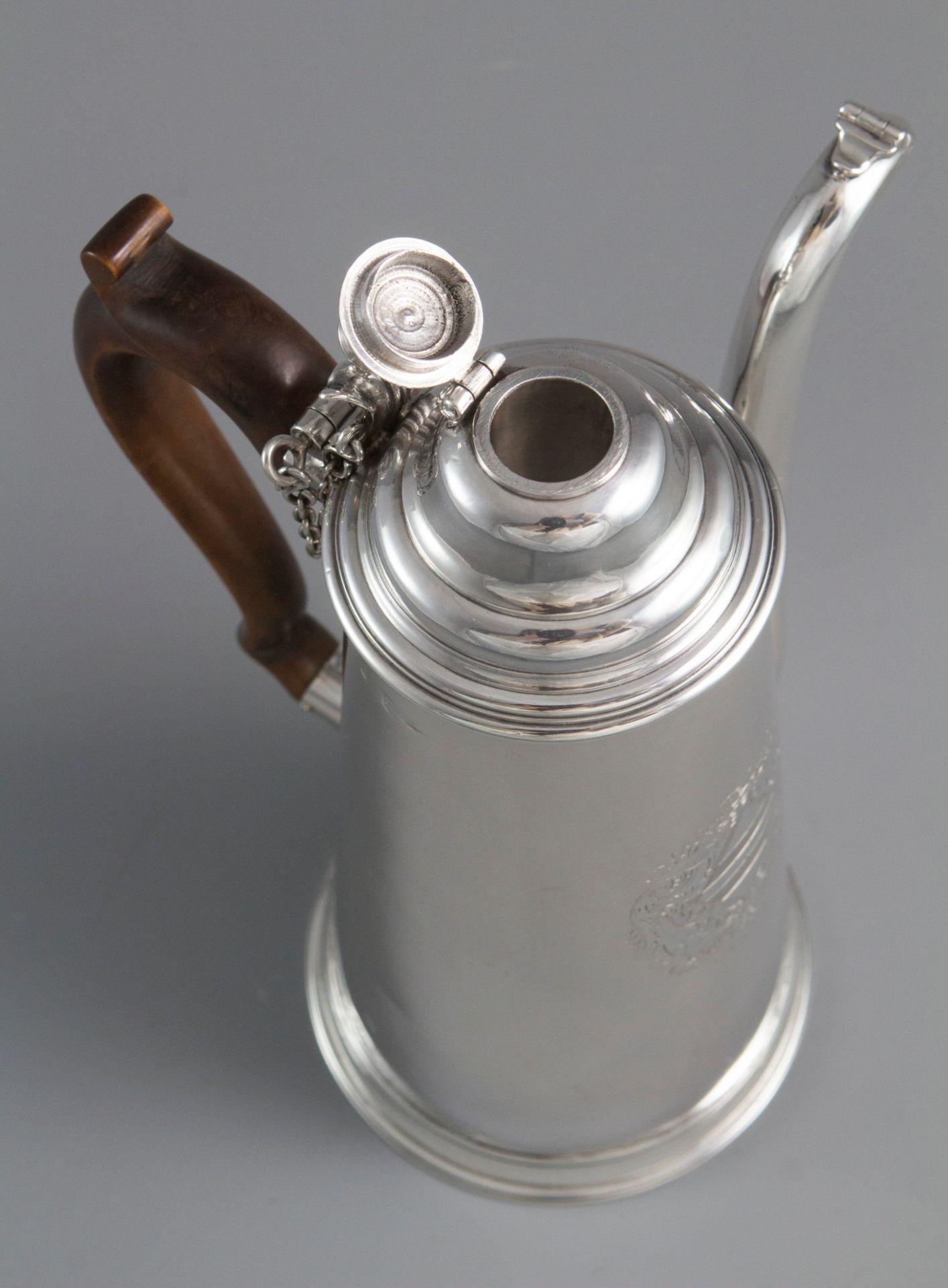 A Rare and Important William III Britannia Silver Chocolate Pot London 1698