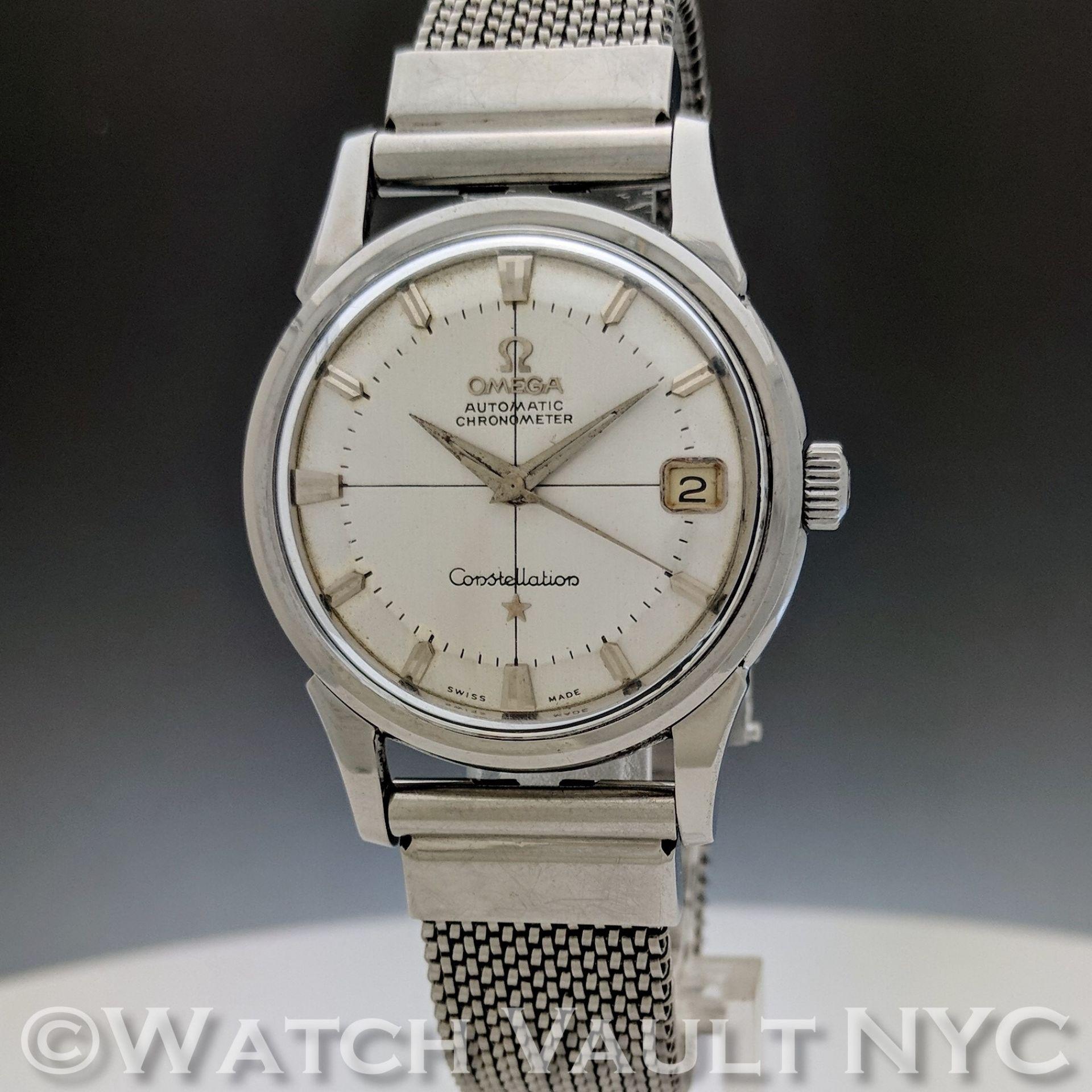 Omega Constellation Calendar 14393.61SC Pie Pan 1961 Vintage 34mm Auto RC408