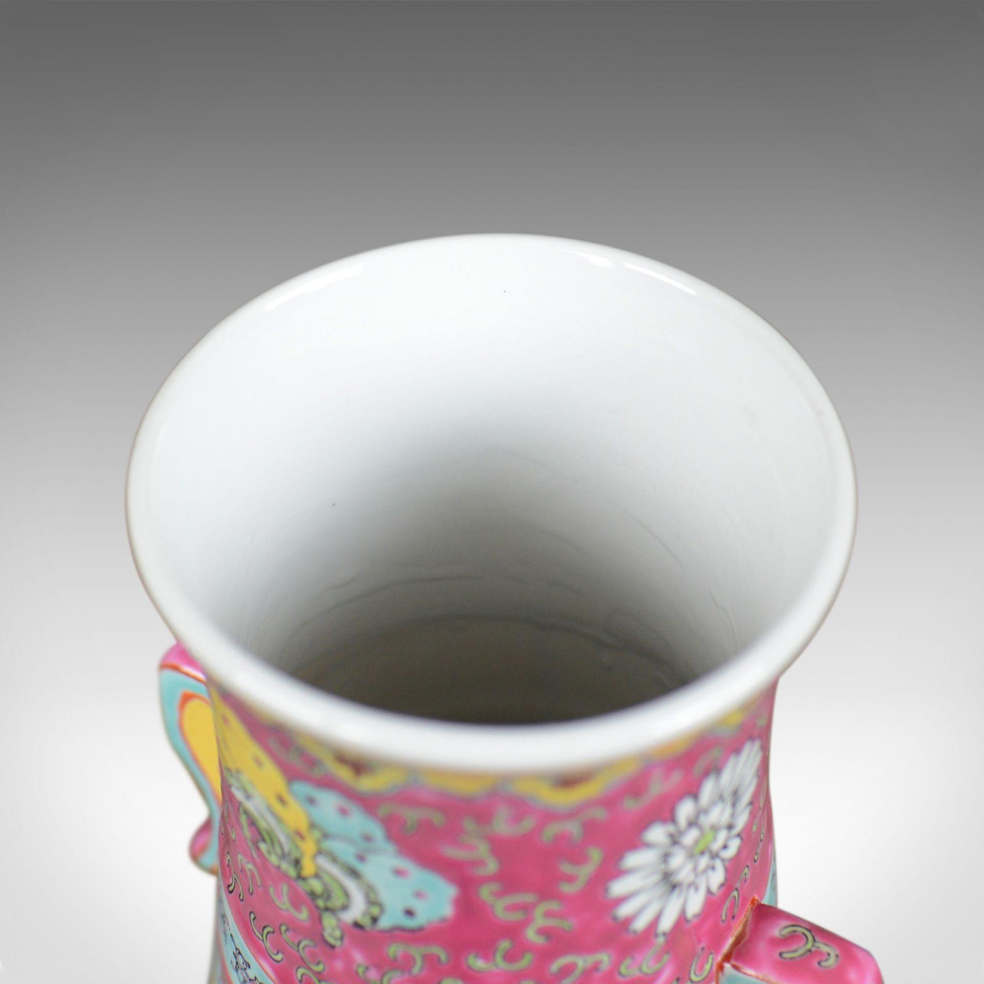 Large, Vintage, Japanese Baluster Vase, Decorative Oriental, Ceramic Urn C20th