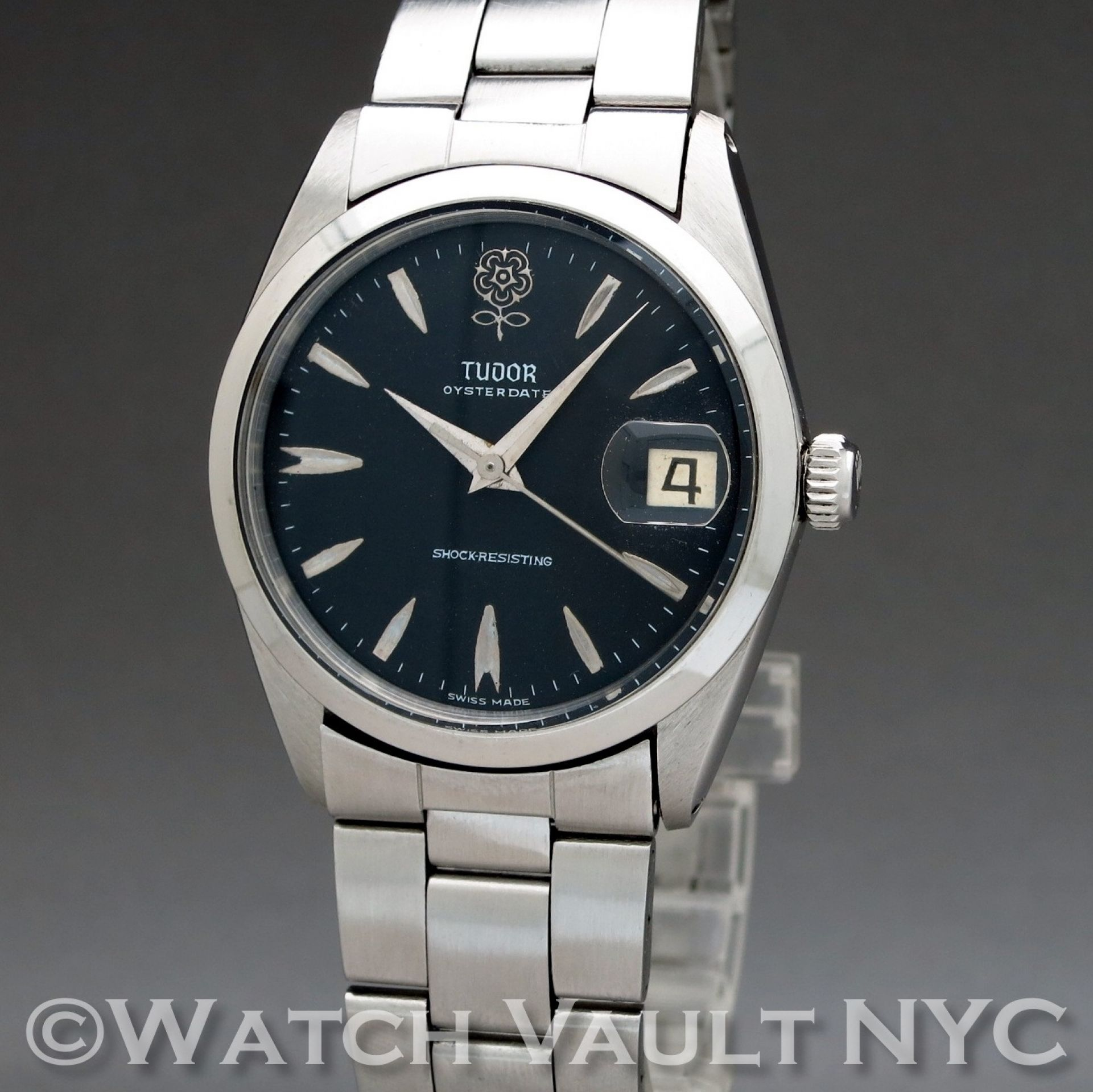 Tudor Oyster Date 7962 Big Rose 1965 Vintage 34mm Manual RE101