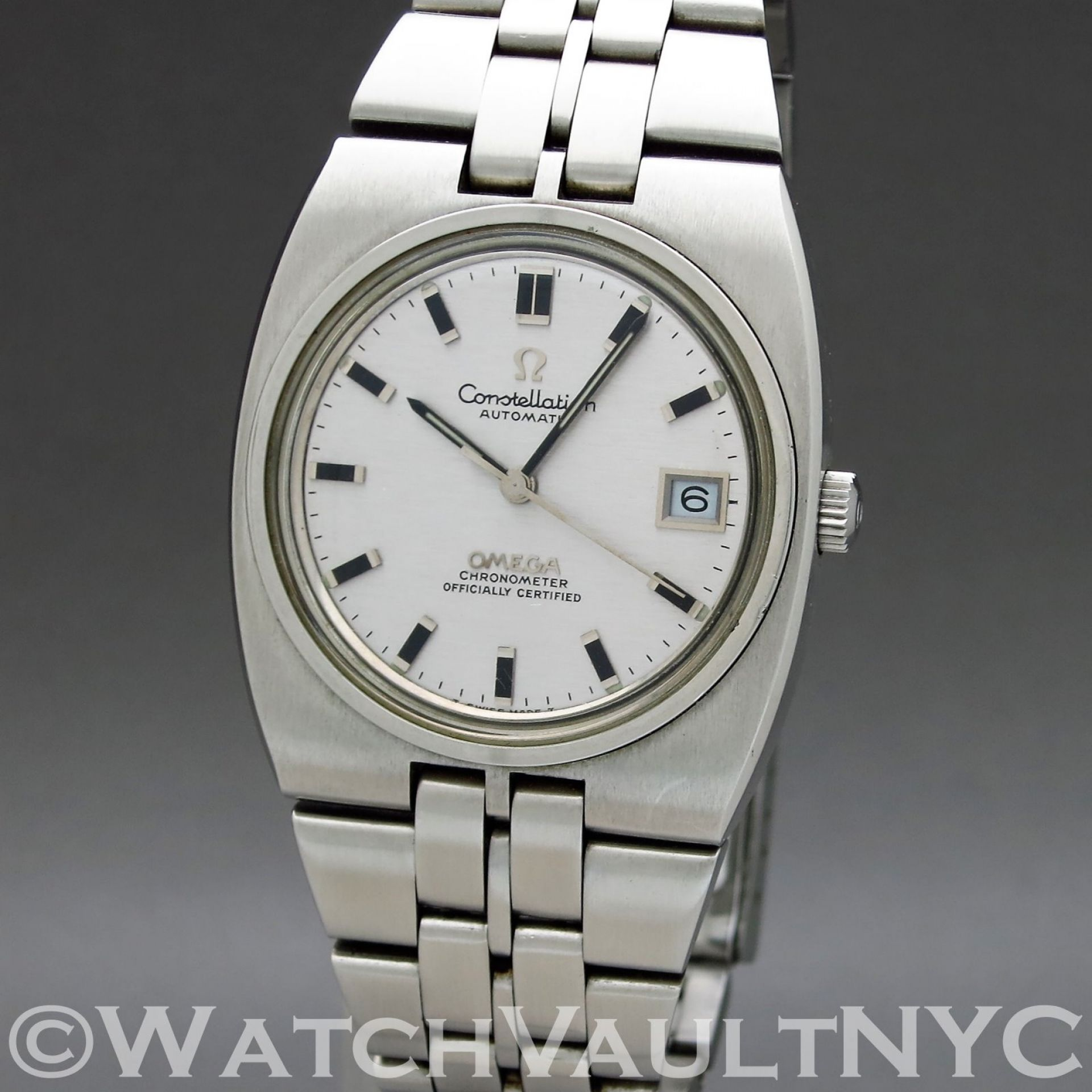 Omega Constellation Calendar 166.055 1970 Vintage 36mm Auto RF305