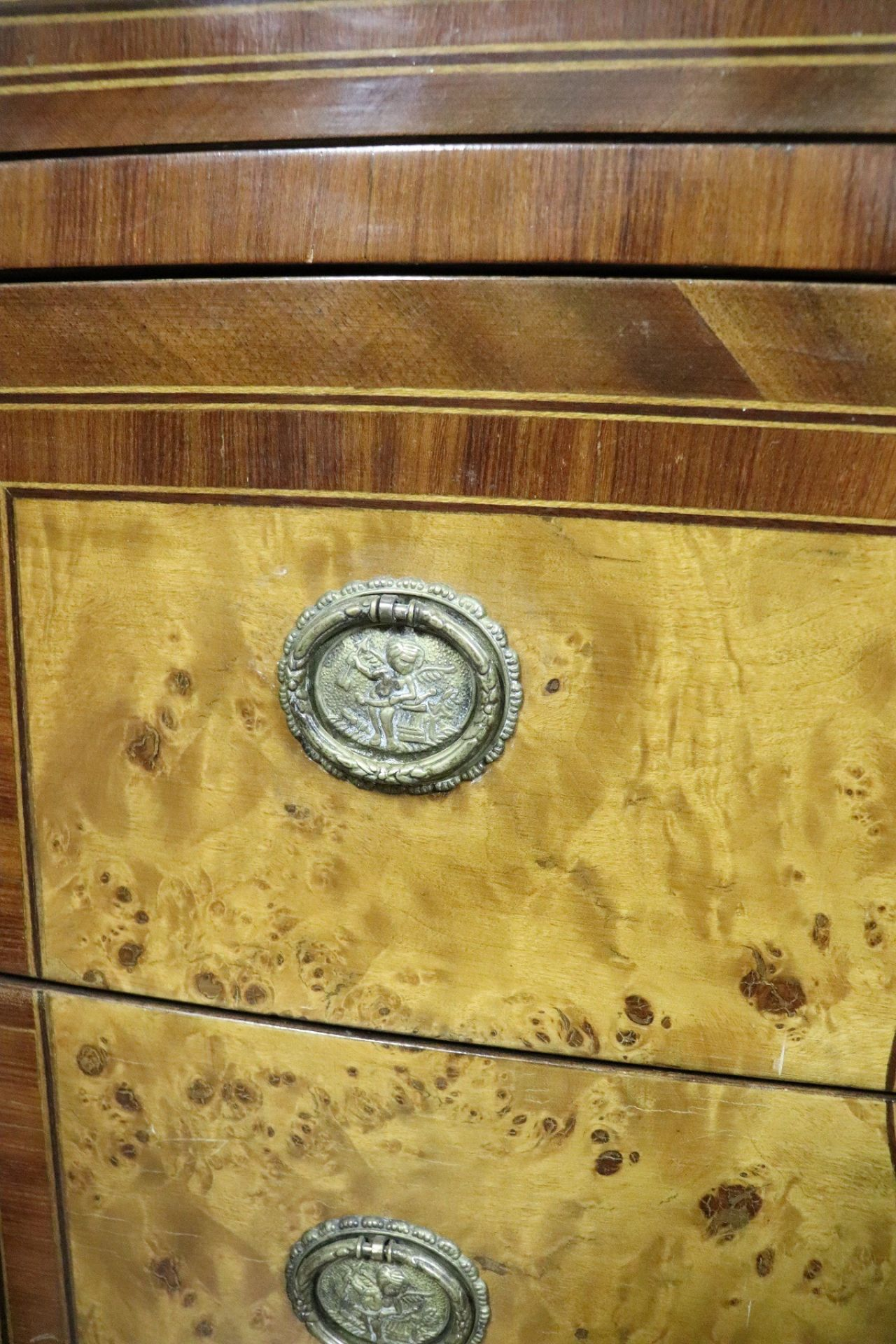 20th Century Italian Louis XVI Style Inlaid Wood Commode or Chest of Drawer