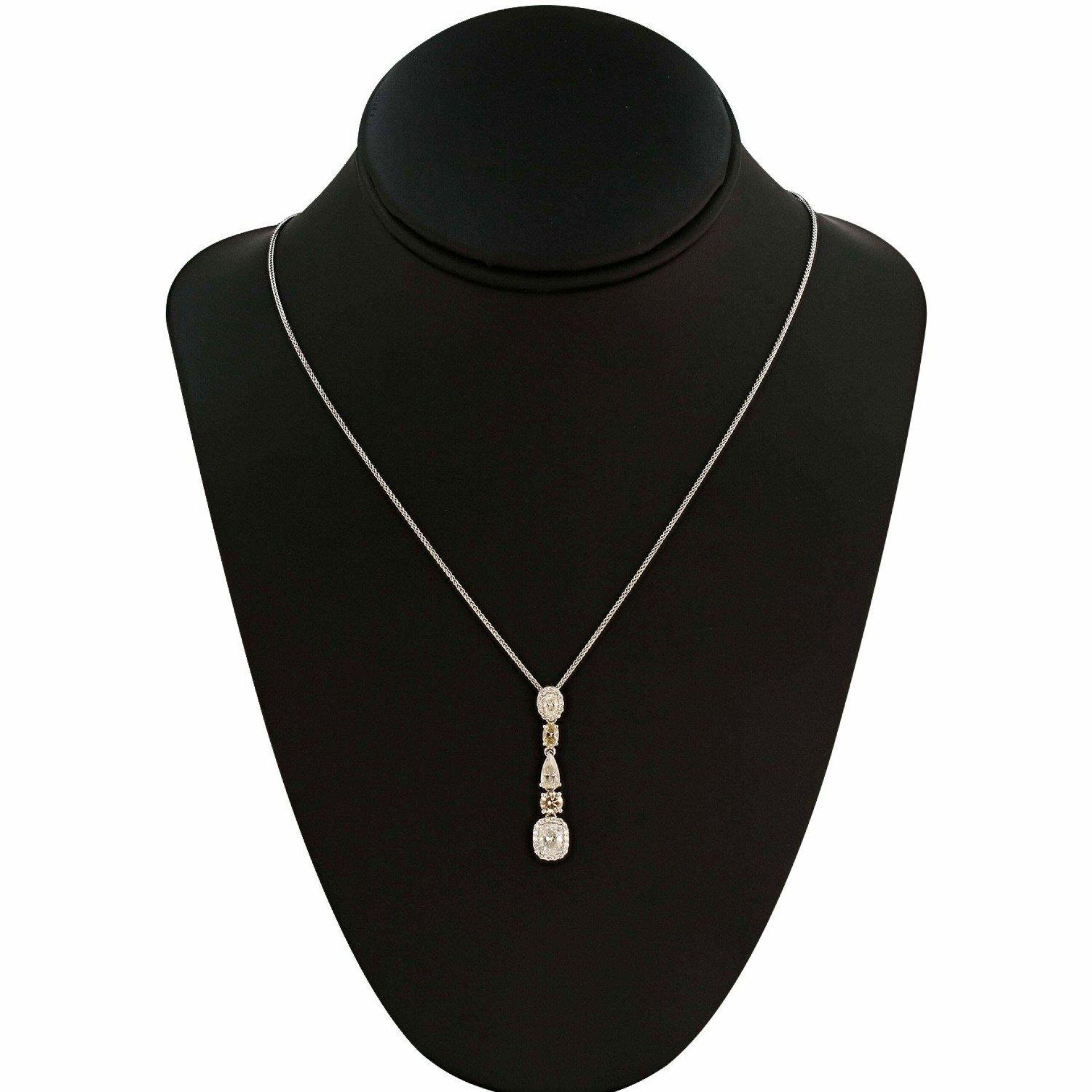 2.39ctw Diamond 18K White Gold Pendant/Necklace