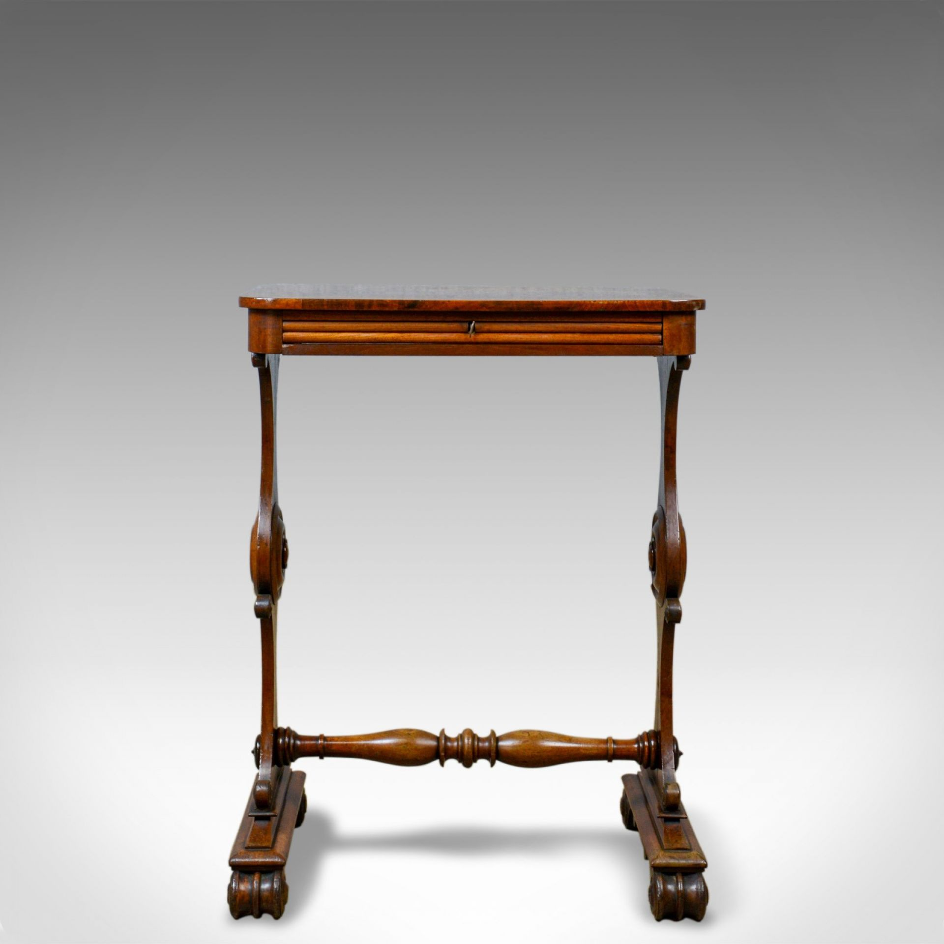 Antique Side Table, English, William IV, Companion, Mahogany, Circa 1835