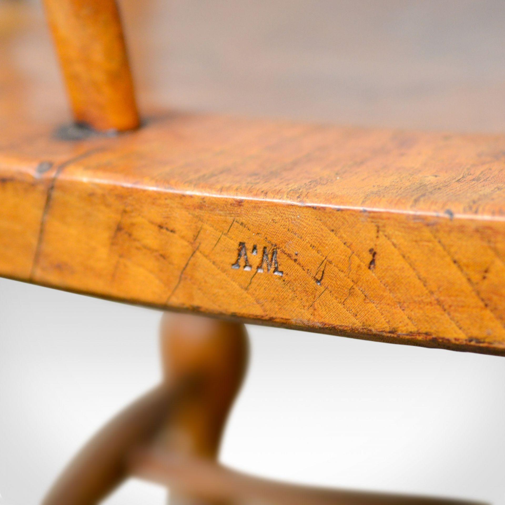 Antique Bow-Back Elbow Chair, English, Victorian, Smokers, Captains, Circa 1890