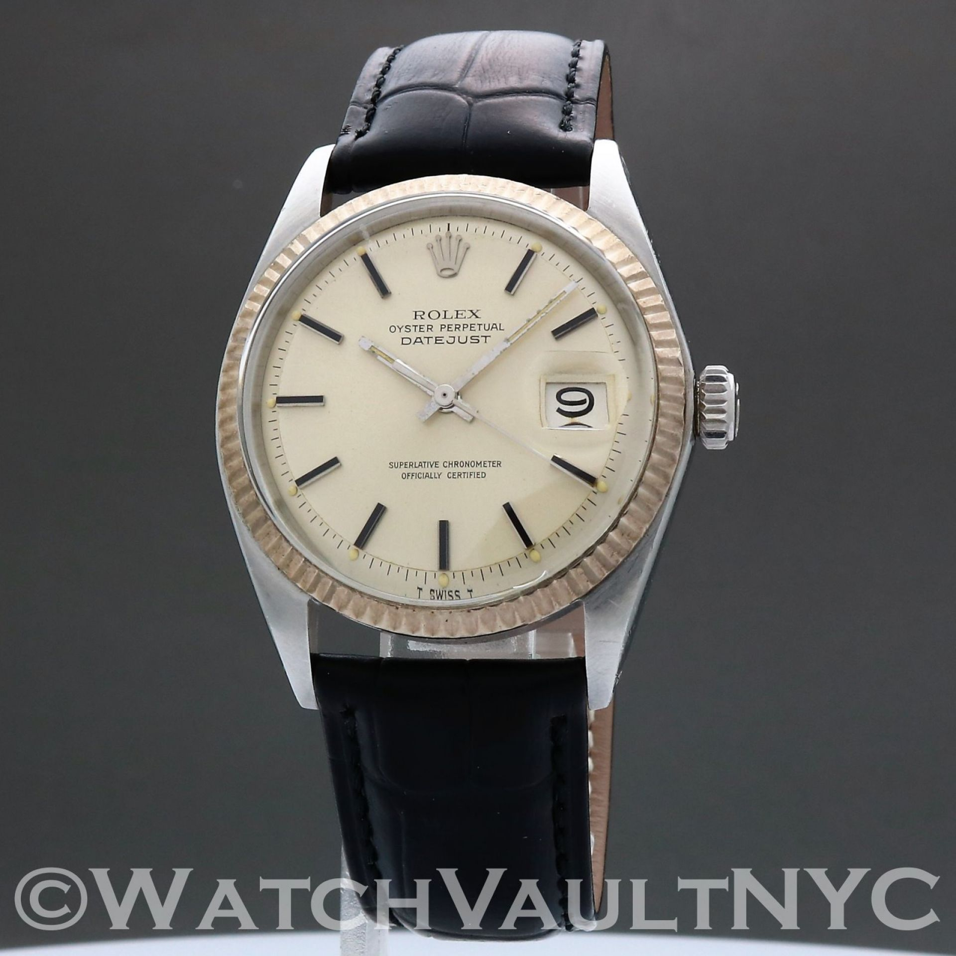 Rolex Oyster Perpetual Datejust 1601 1973 Vintage 36mm Auto RL307