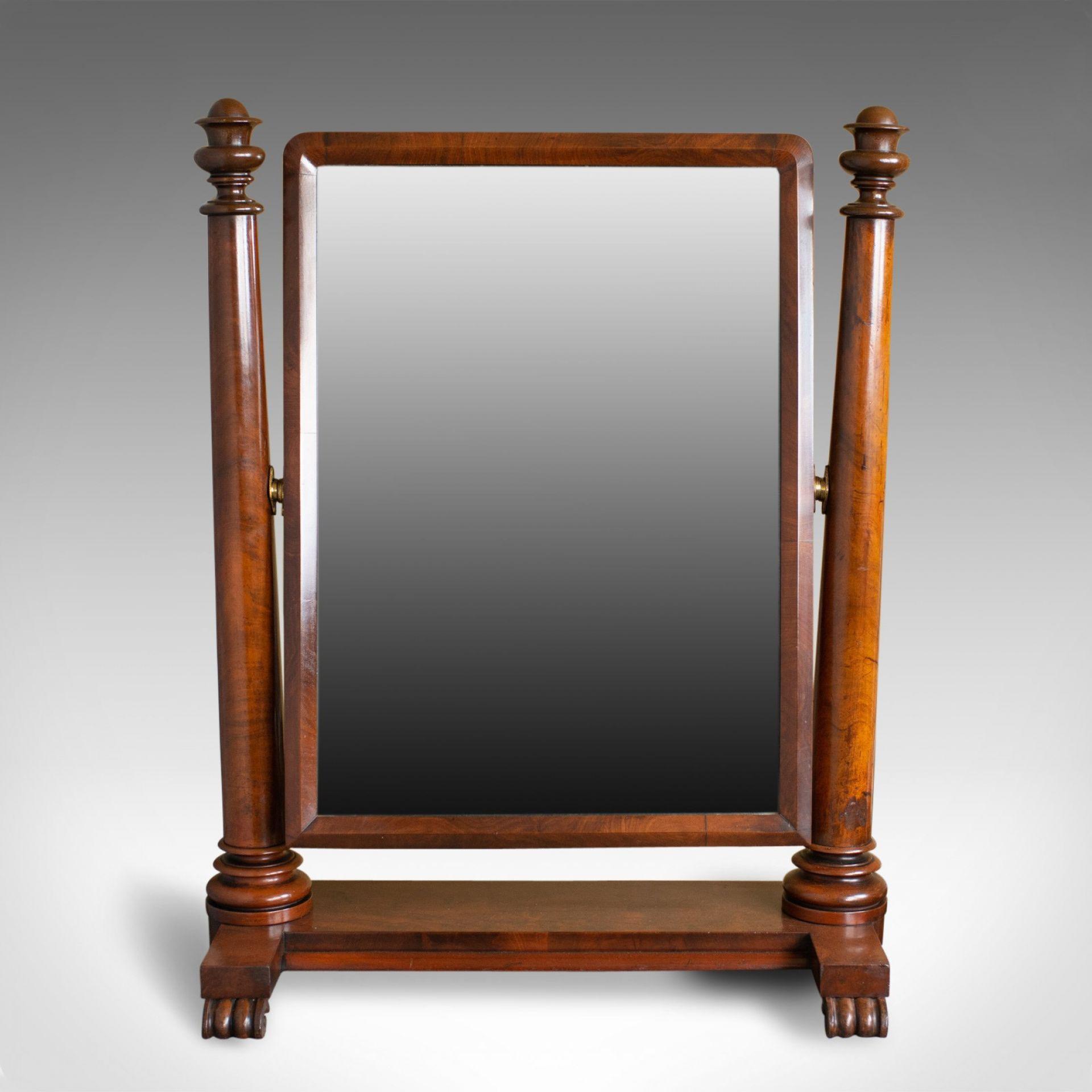 Large Antique Vanity Mirror, English, Regency, Toilet, Swing, Platform, c.1830