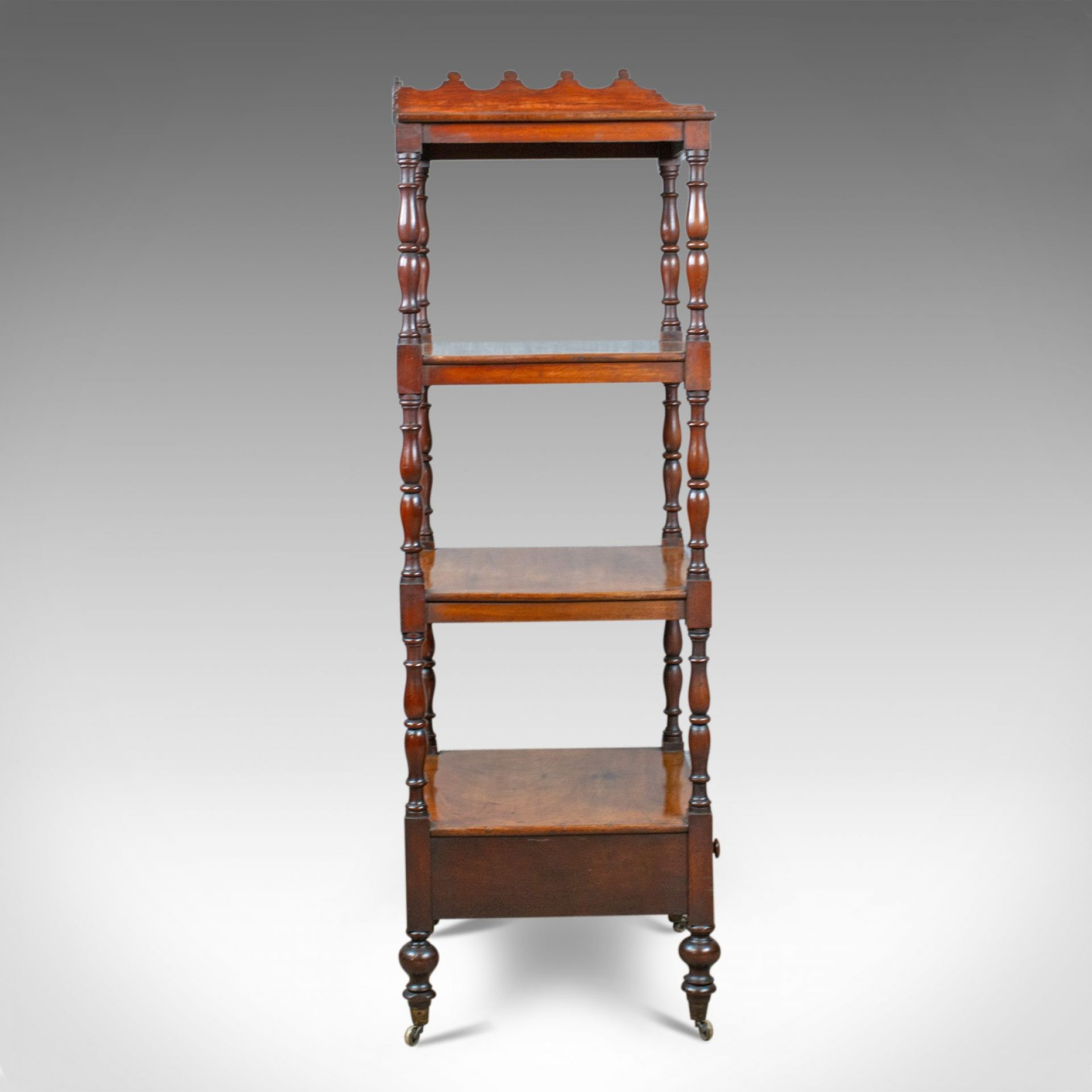 Antique Whatnot, English, Mahogany, Four Tier, Regency, Display Stand, c.1820