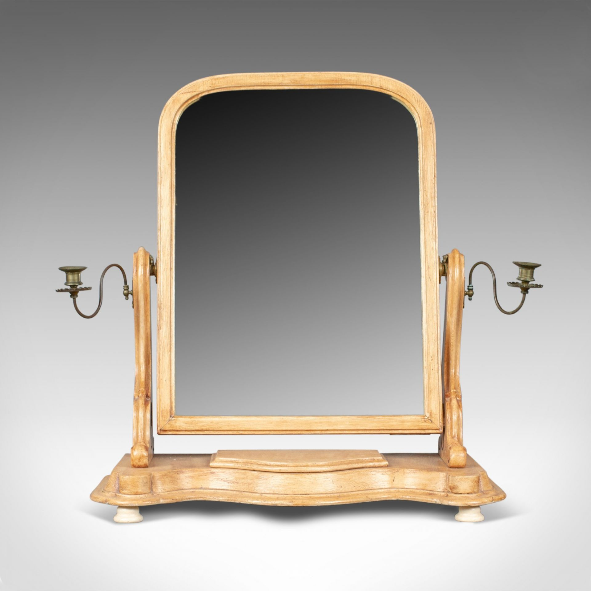 Antique Dressing Table Mirror, English Victorian, Vanity, Toilet, Painted, c1870
