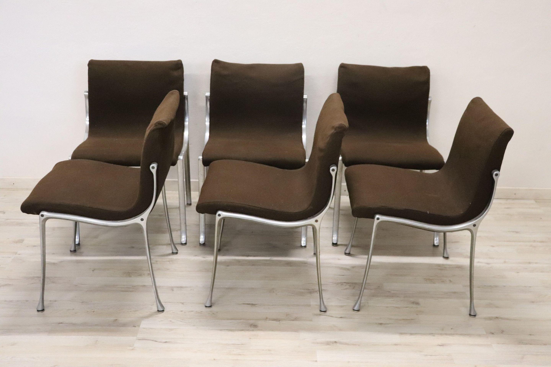 20th Century Italian Design in the Style of Osvaldo Borsani Chairs, Set of 6