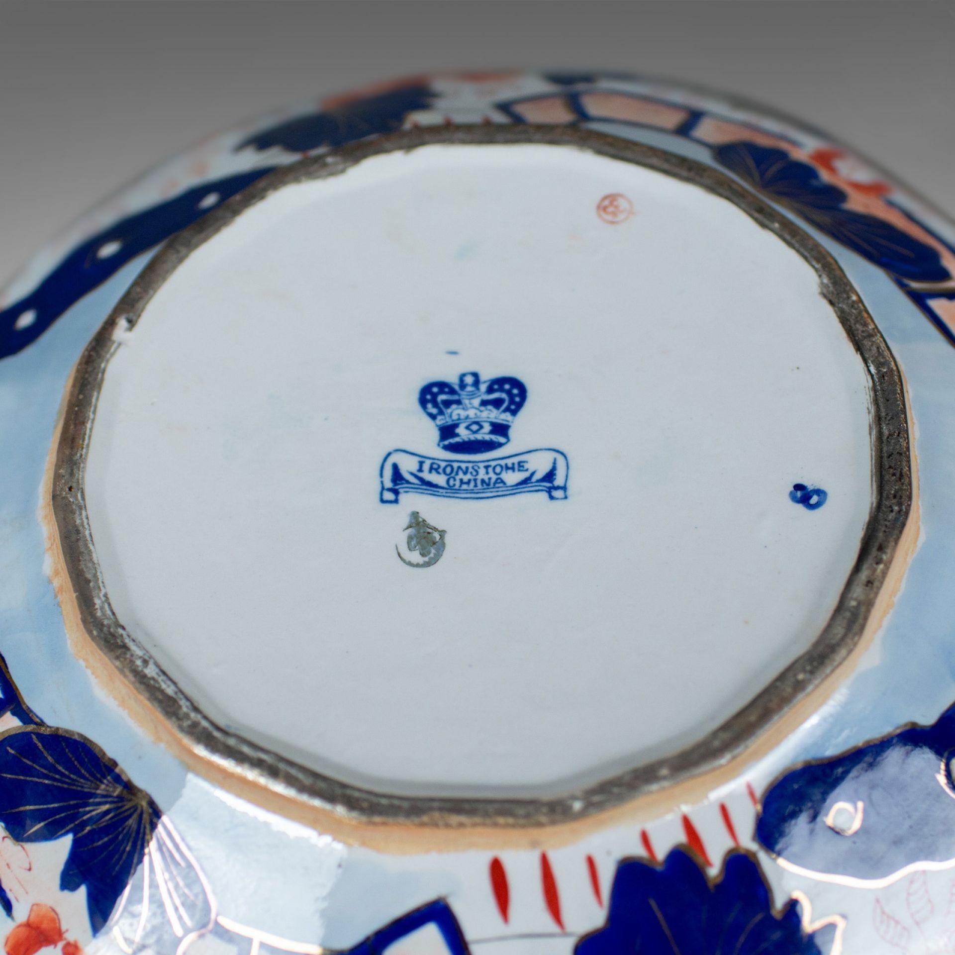Vintage Ironstone China Ewer and Basin, Jug and Bowl, Victorian Taste, Mid C20th