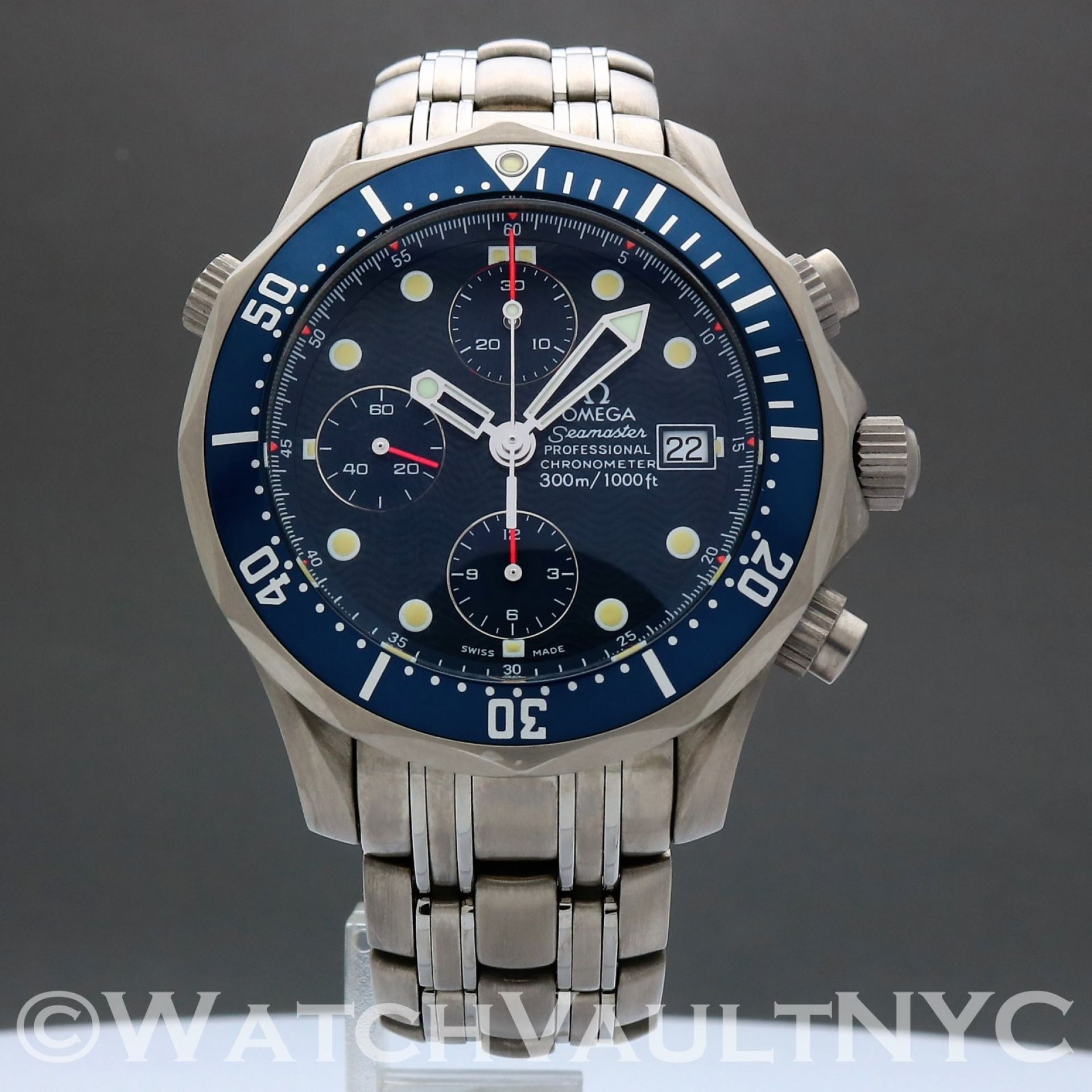 Omega Seamaster Professional 300M Chrono Titanium 2298.80 James Bond 42mm SC204