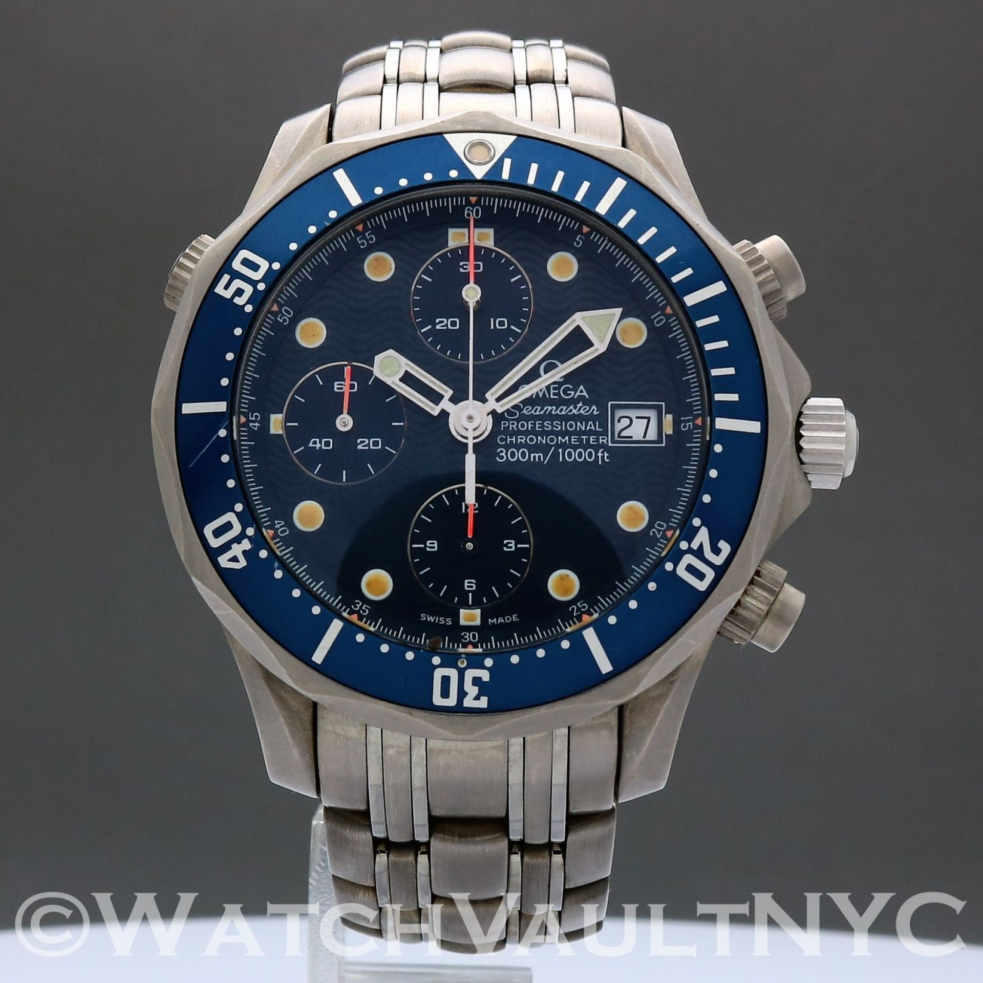 Omega Seamaster Professional 300M Chrono Titanium 2298.80 James Bond 42mm  SC313