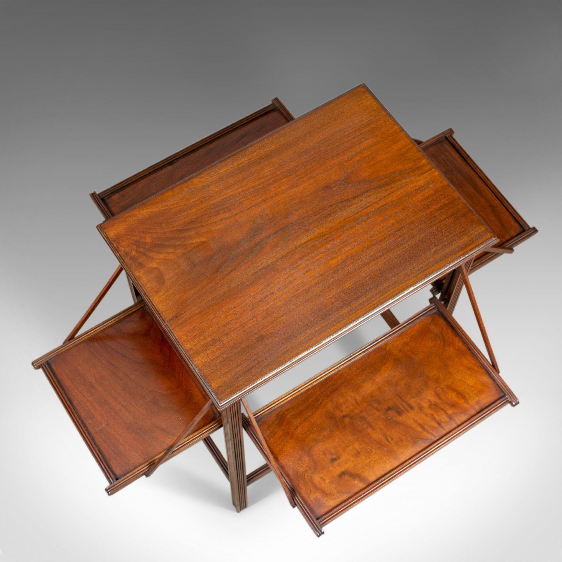 Antique Tea Table, English, Edwardian, Walnut, Cake Stand, Folding, Circa 1910