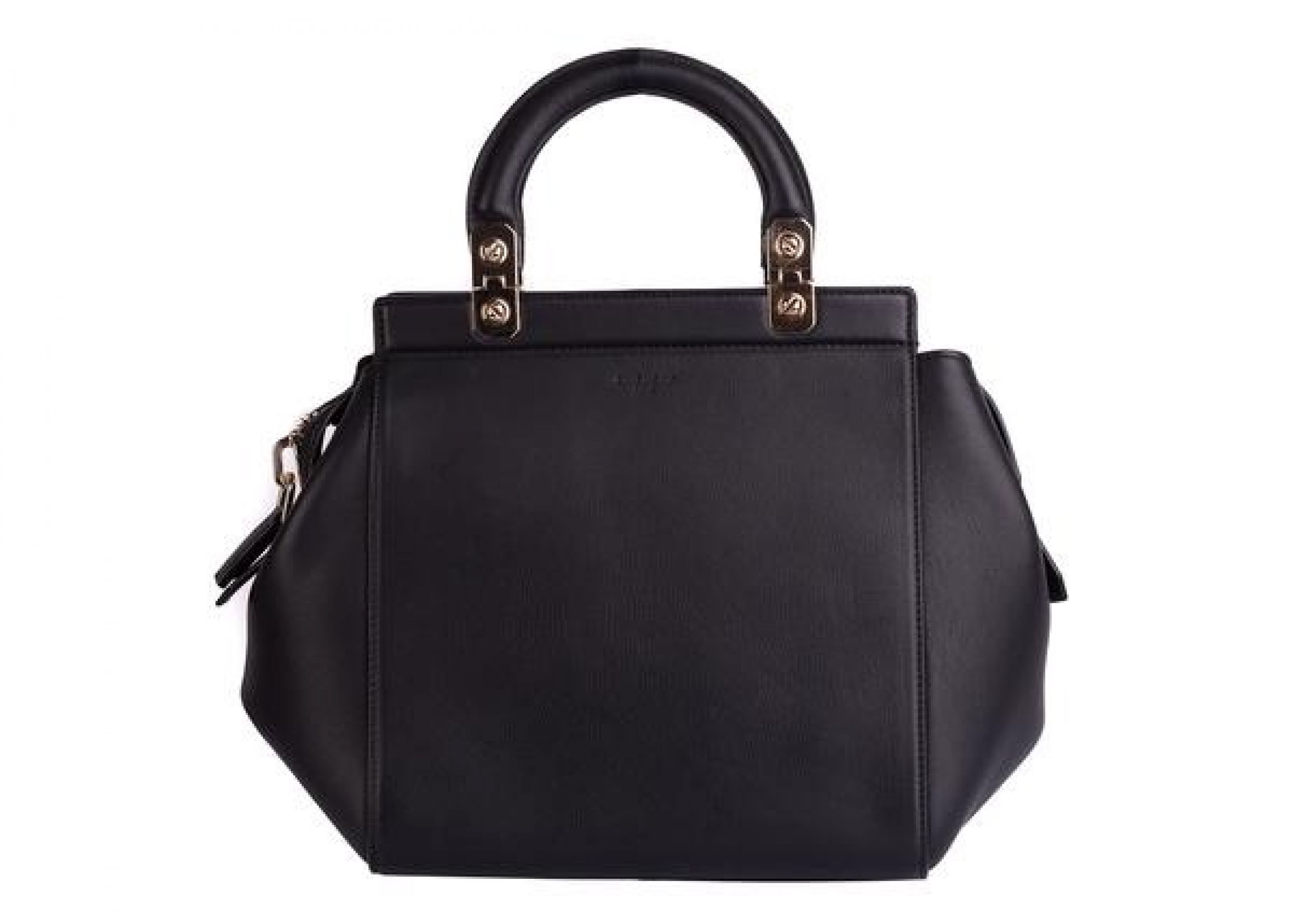 GIVENCHY WOMEN'S BLACK SMOOTH LEATHER HOUSE DE TOTE SATCHEL HAND BAG